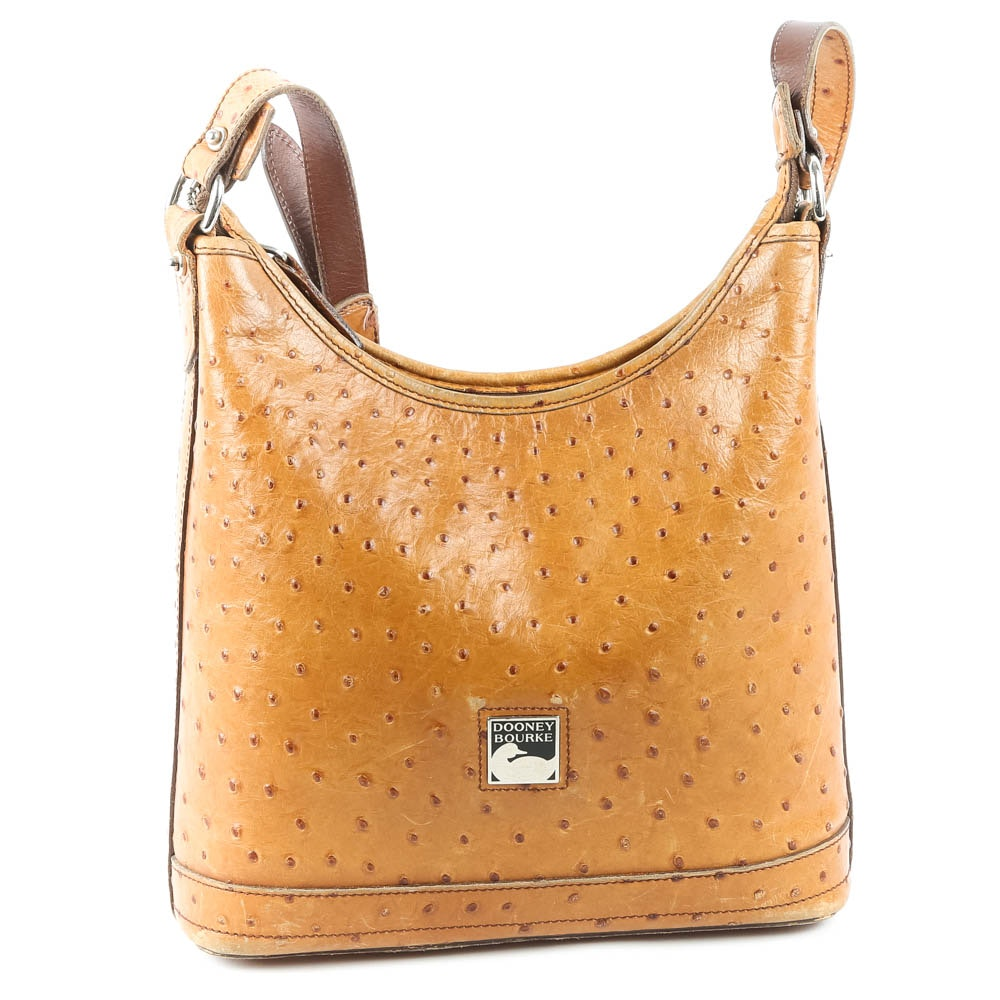 Dooney & Bourke Ostrich Embossed Leather Shoulder Bag