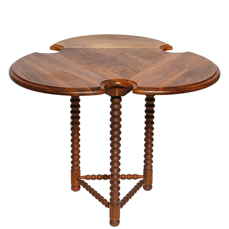 Vintage Walnut Drop Leaf Cricket Table