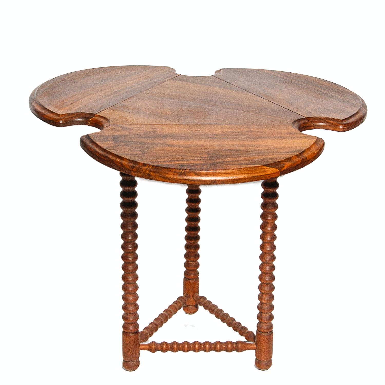 English Walnut Table with Bobbin Turned Legs