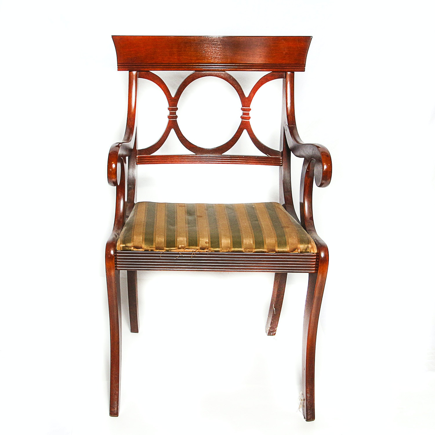 Vintage Federal Style Armchair by Tell City Chairs