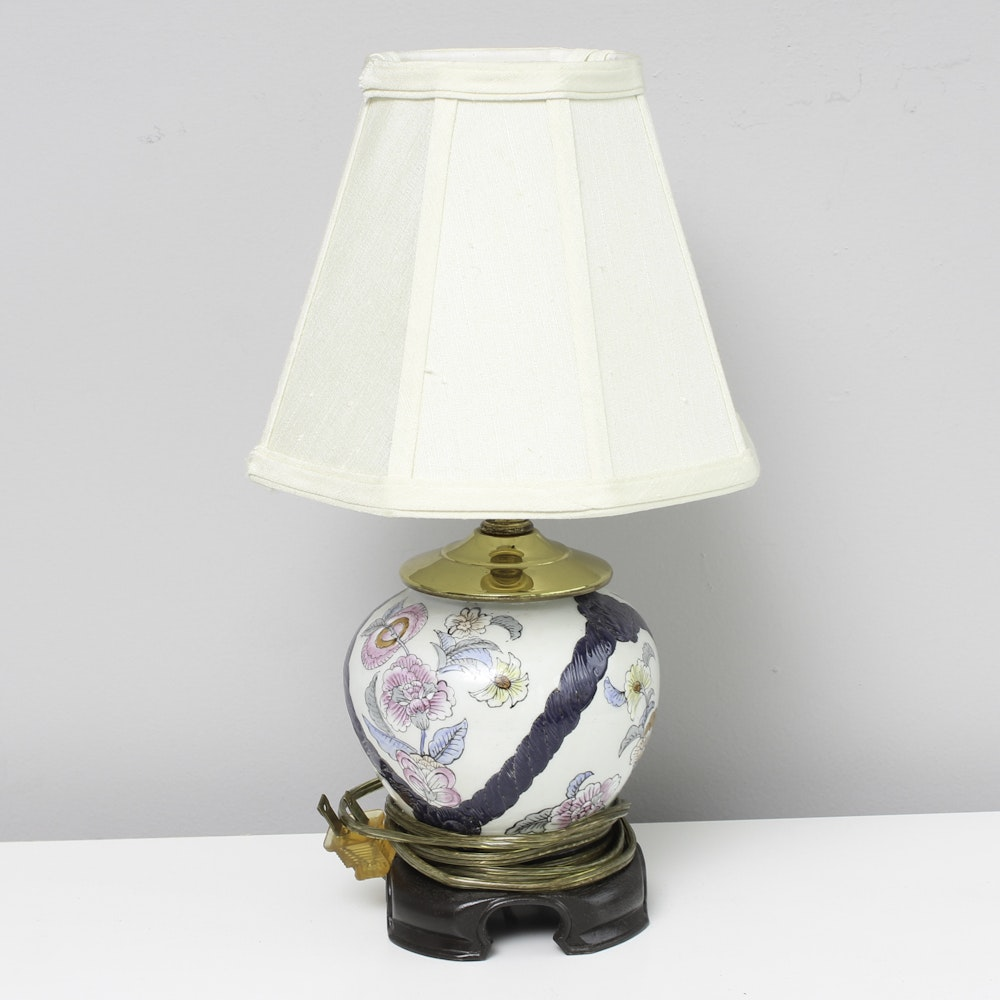 Asian Floral Desk Lamp