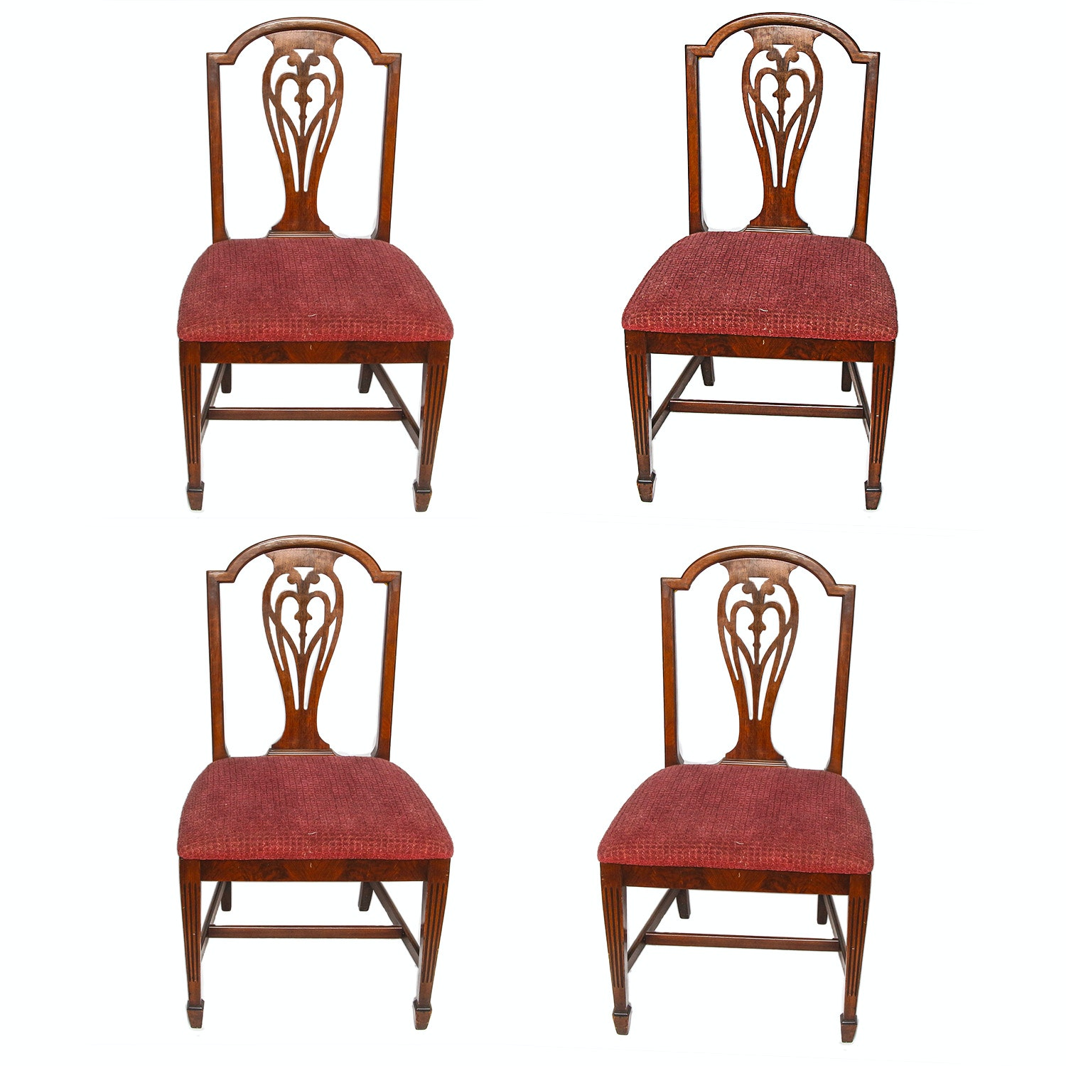 Four Federal Style Walnut Dining Chairs