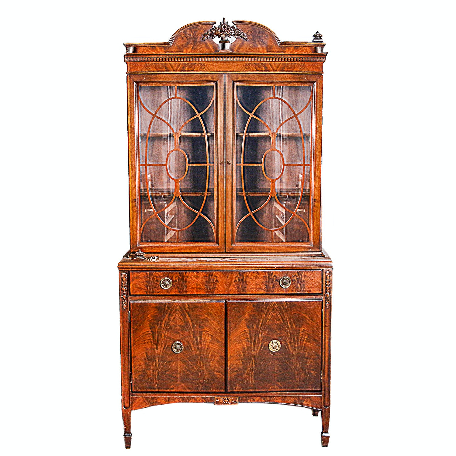 Vintage Federal Style China Hutch