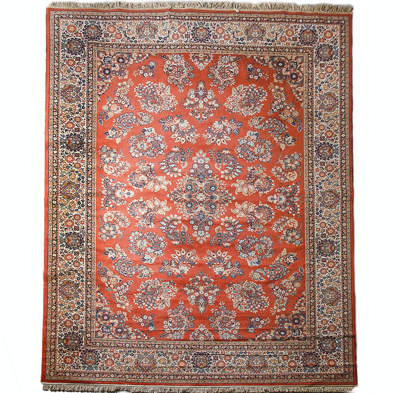 Power-Loomed Belgian Persian Style Wool Area Rug by Kamar
