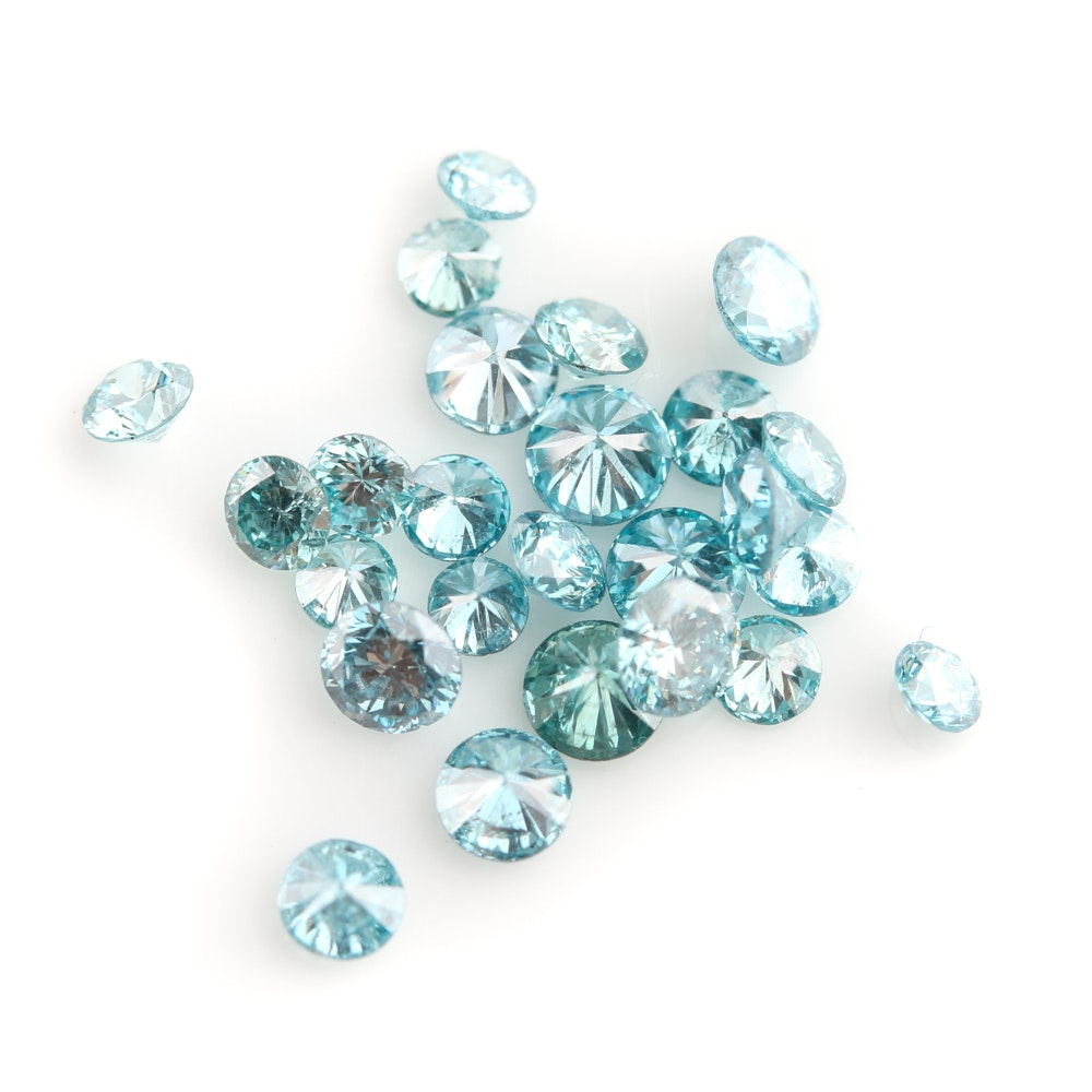 Loose 1.24 CTW Blue Diamonds