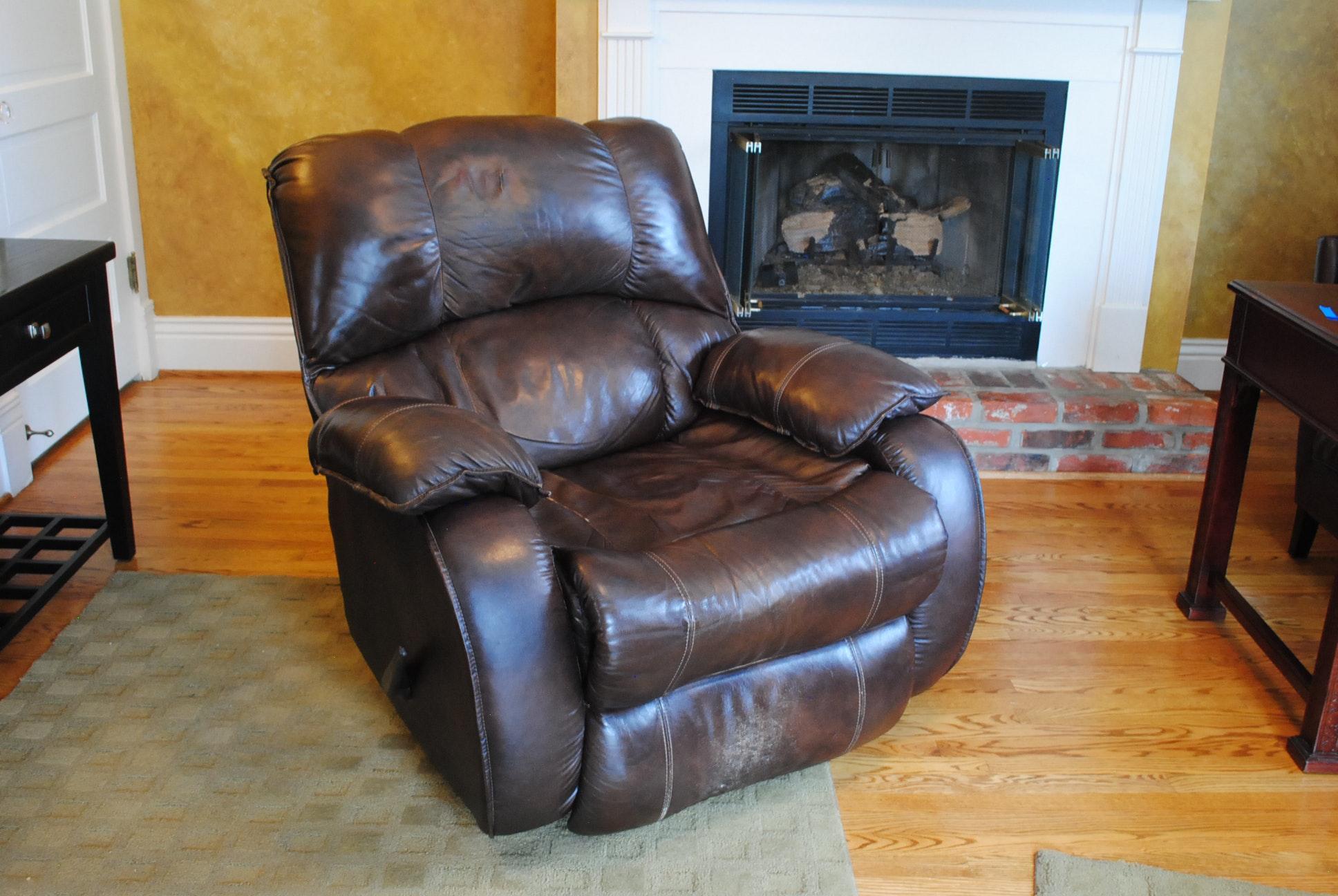 Vintage Brown Leather Recliner