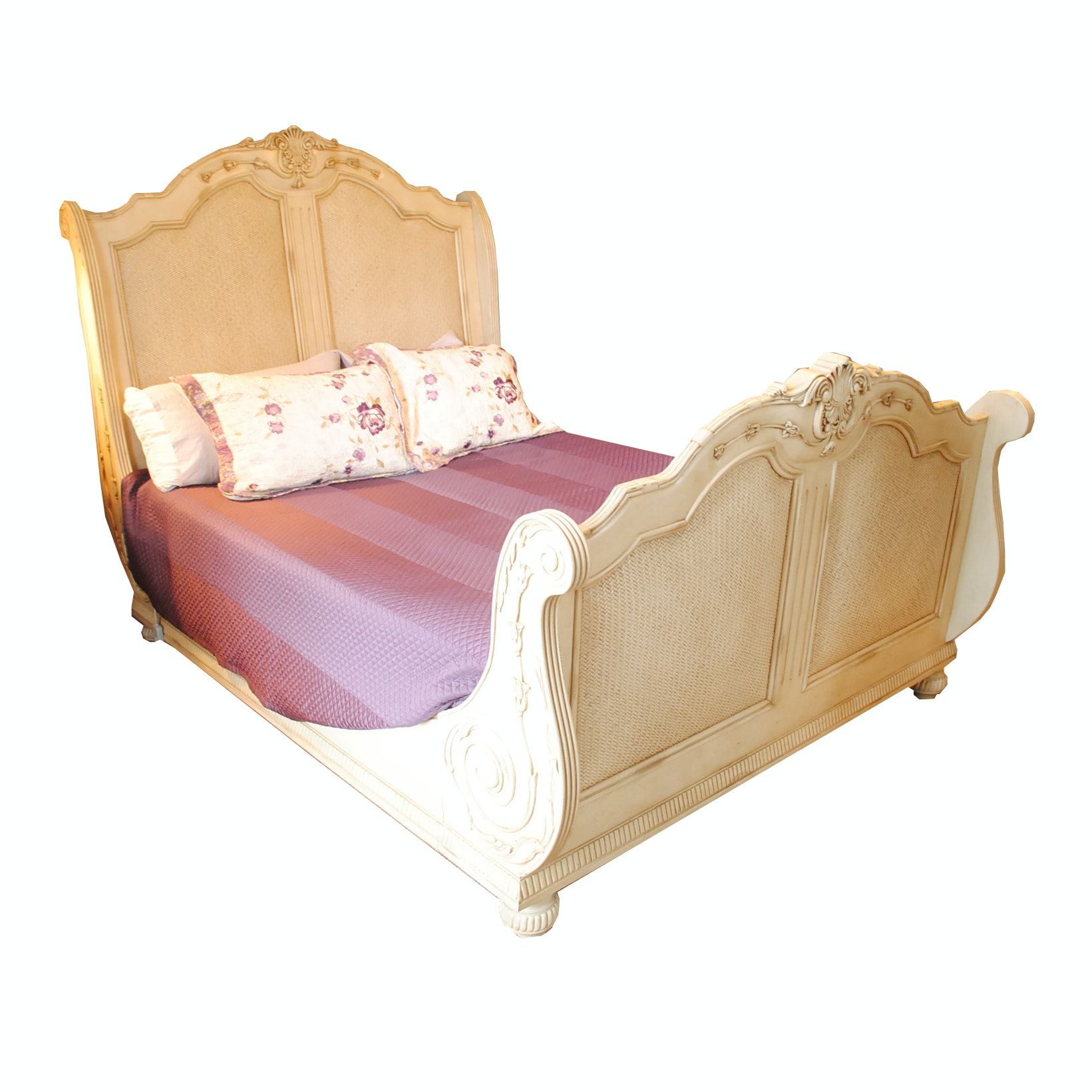 Victorian Style Queen Sleigh Bed