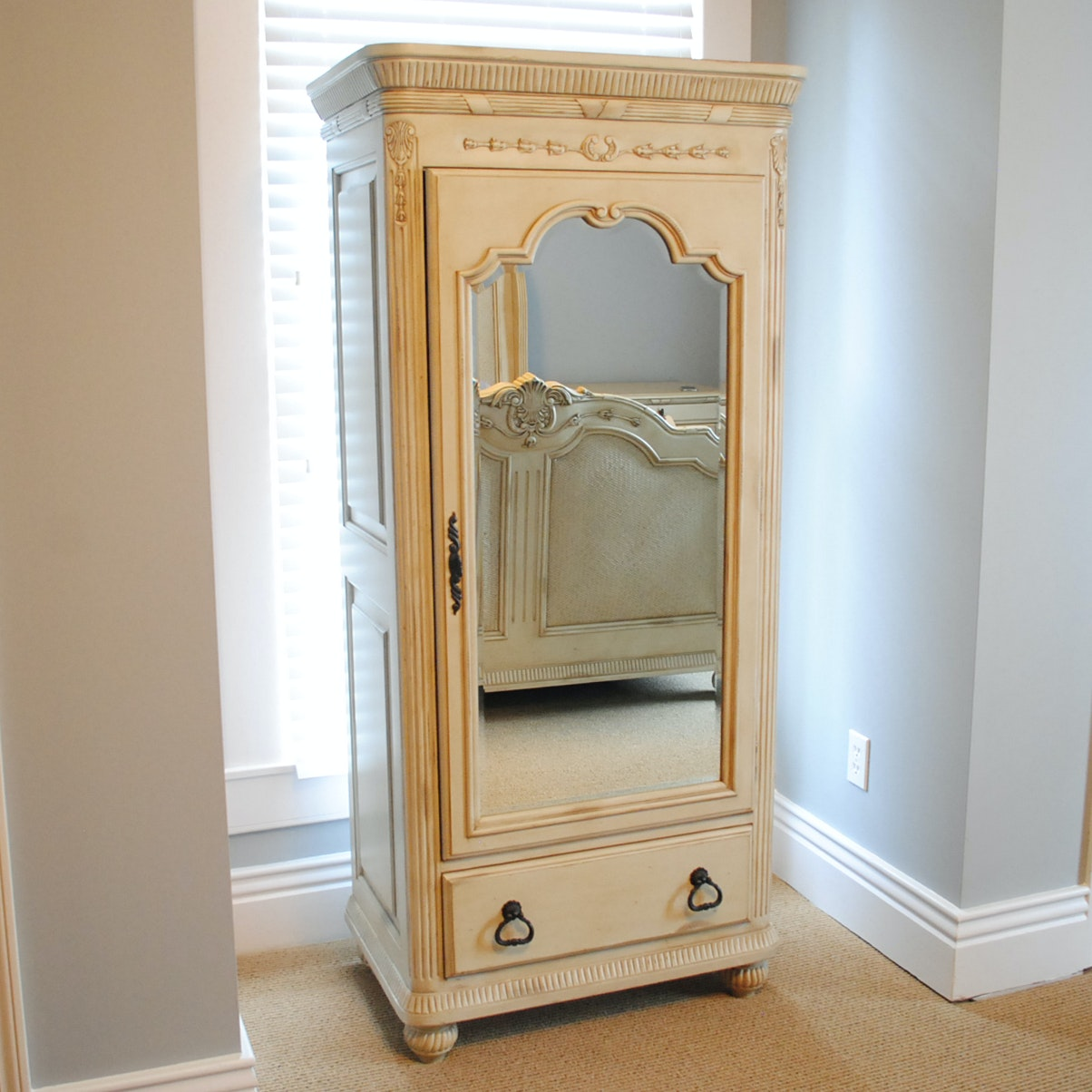Small Painted and Mirrored Amoire by Laura Ashley Home