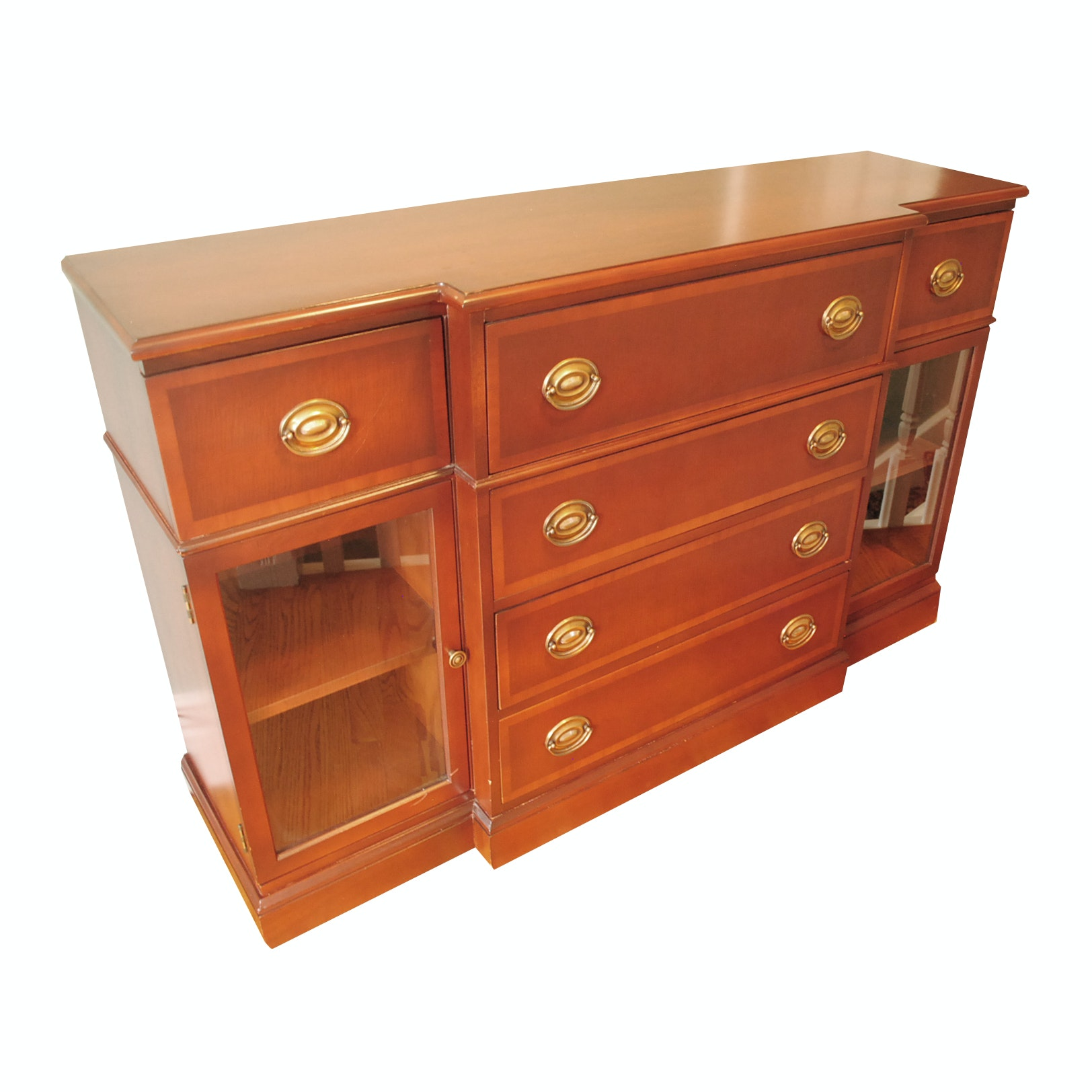 Breakfront Cabinet with Secretary