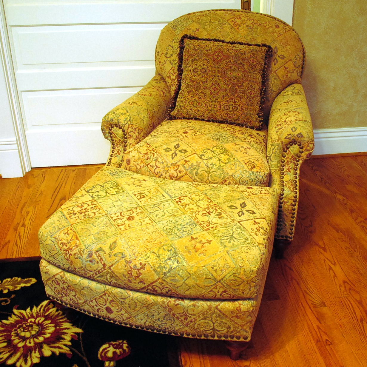 Club Chair and Ottoman by Alexvale Furniture