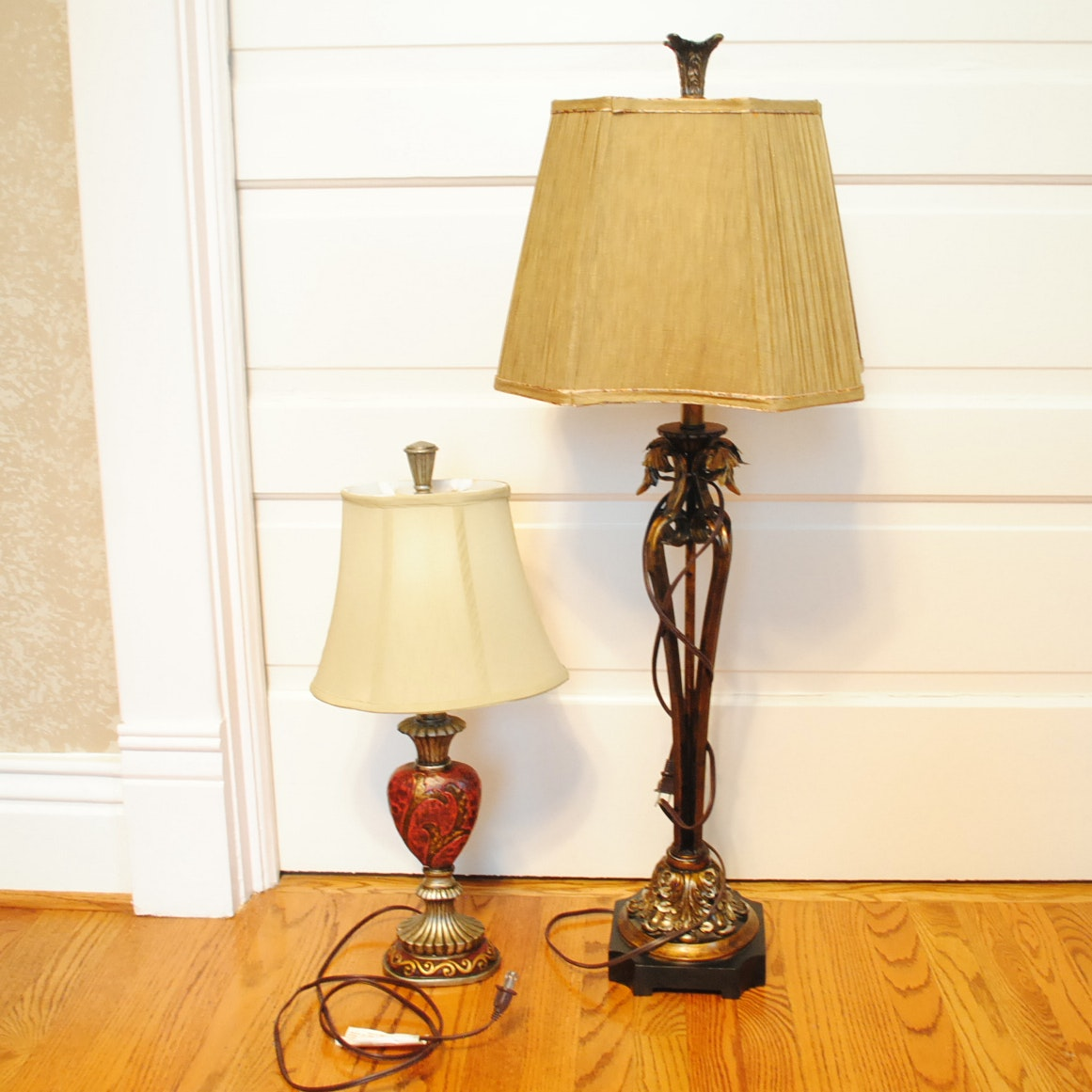 Metal and Wood Table Lamps