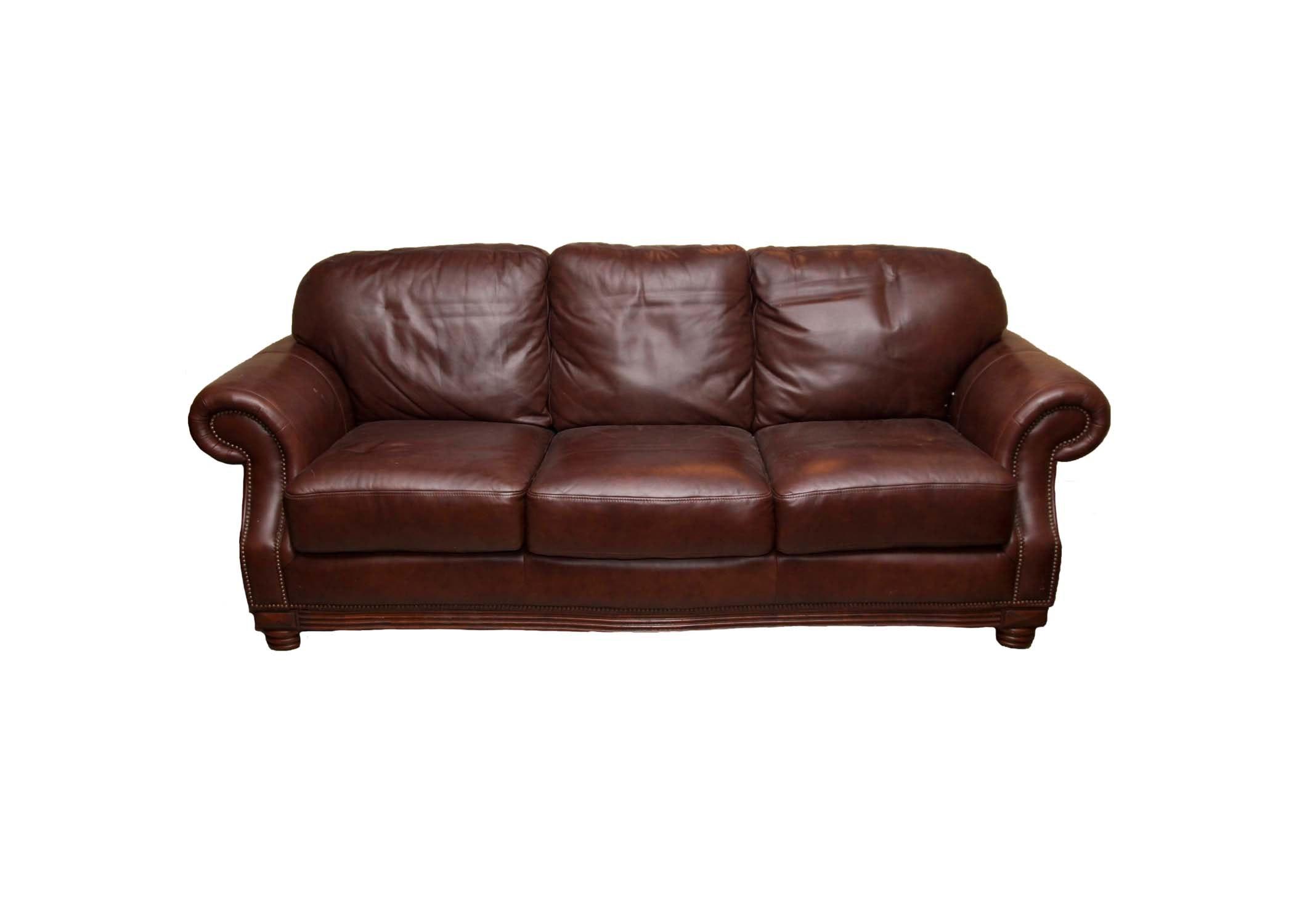 American Signature Leather Sofa