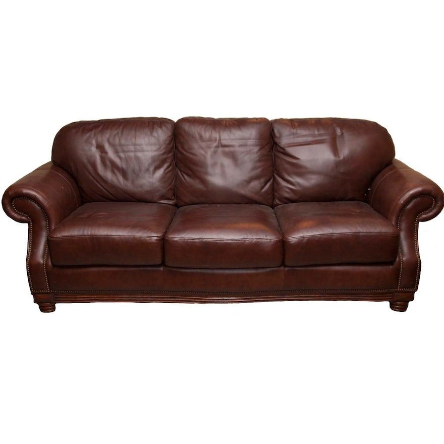 American Signature Leather Sofa