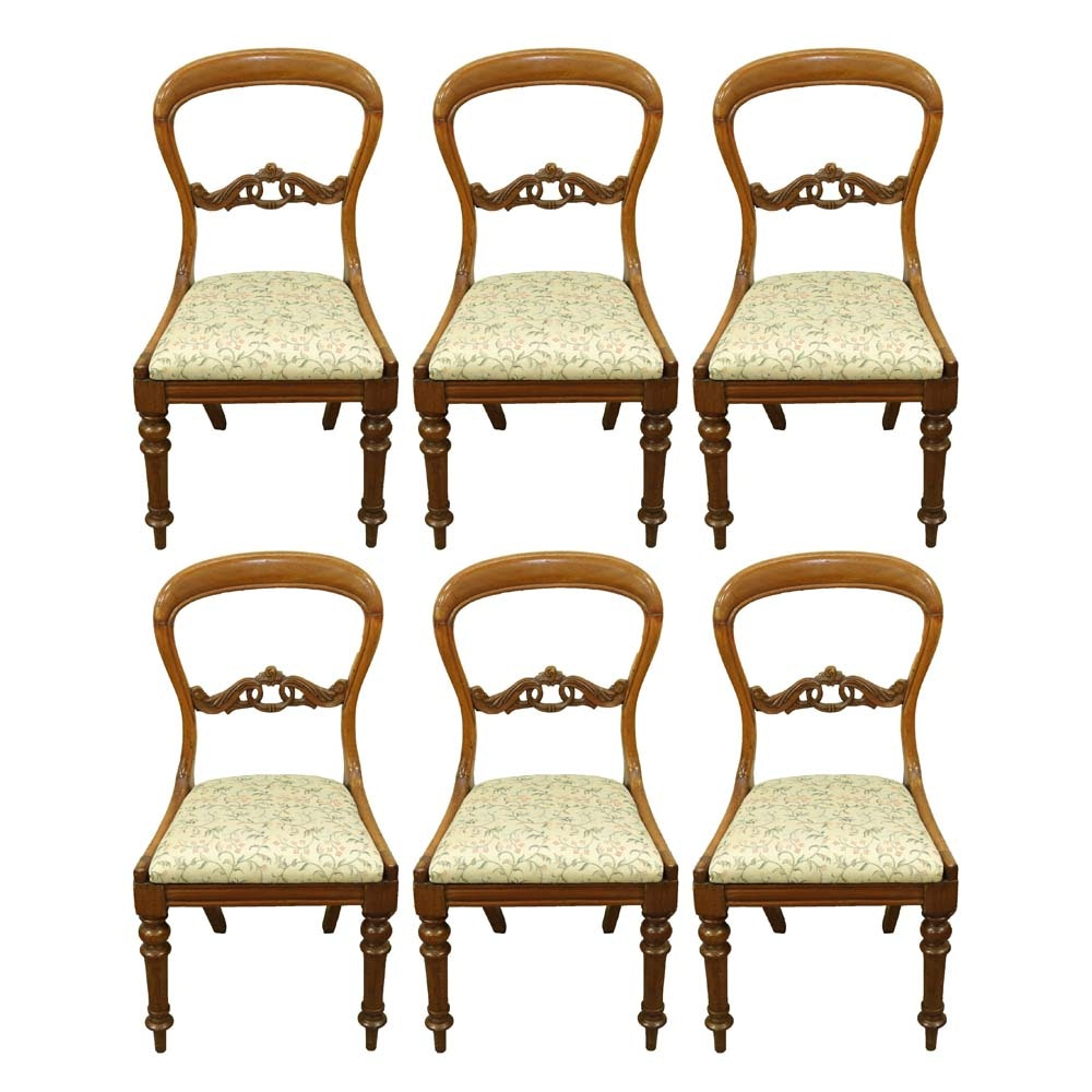 Vintage Victorian Style Balloon Back Chairs
