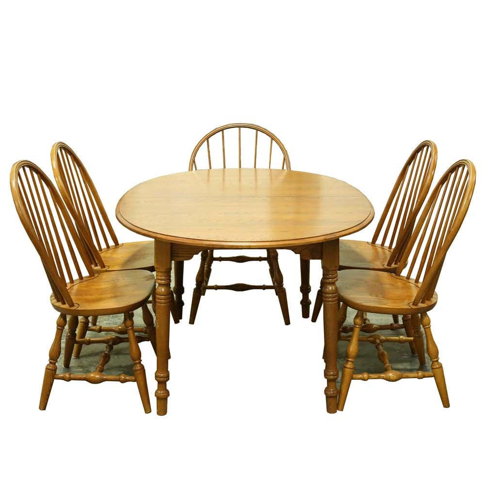 Windsor Back Chairs and Dining Table
