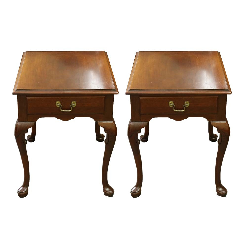 Queen Anne Mahogany Side Tables by Link-Taylor