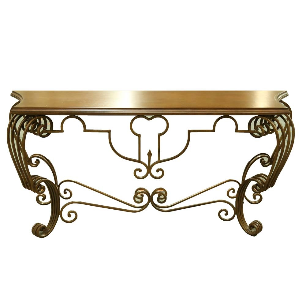 Italian Provincial Console Table