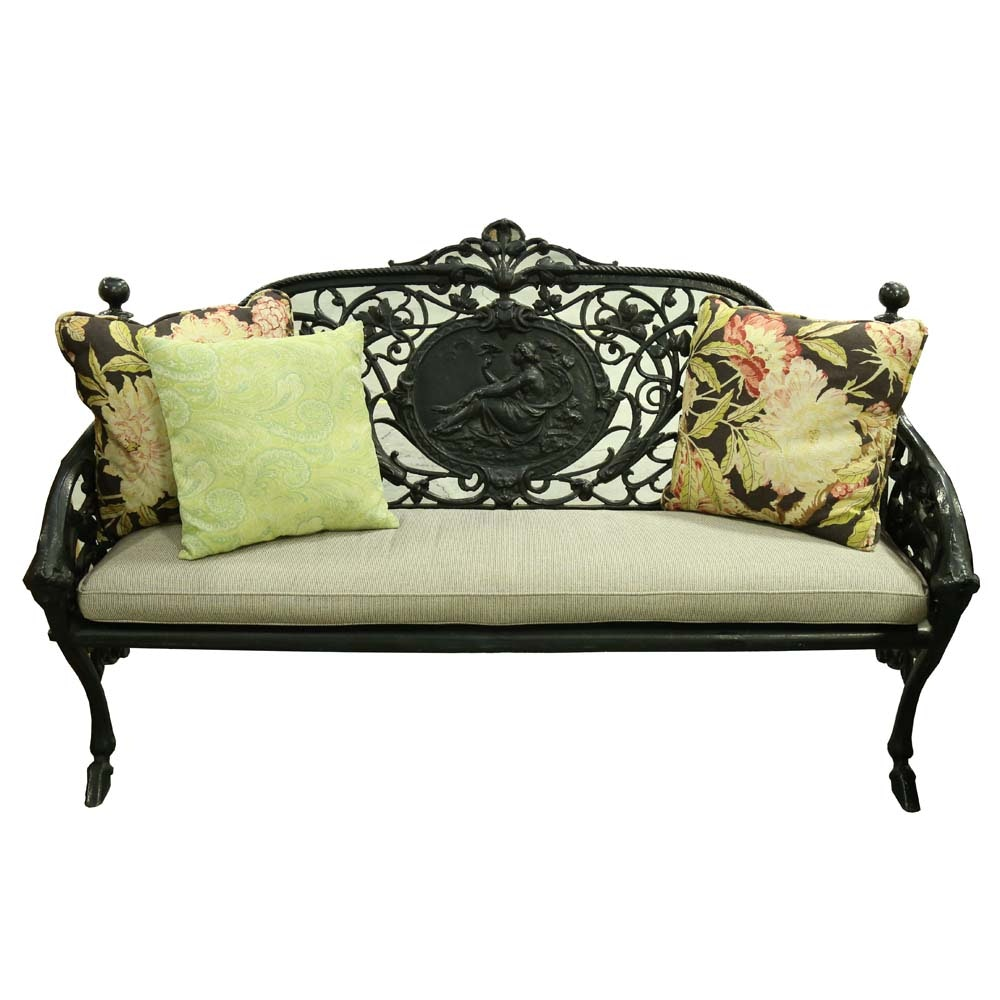 French Wrought Iron Garden Settee