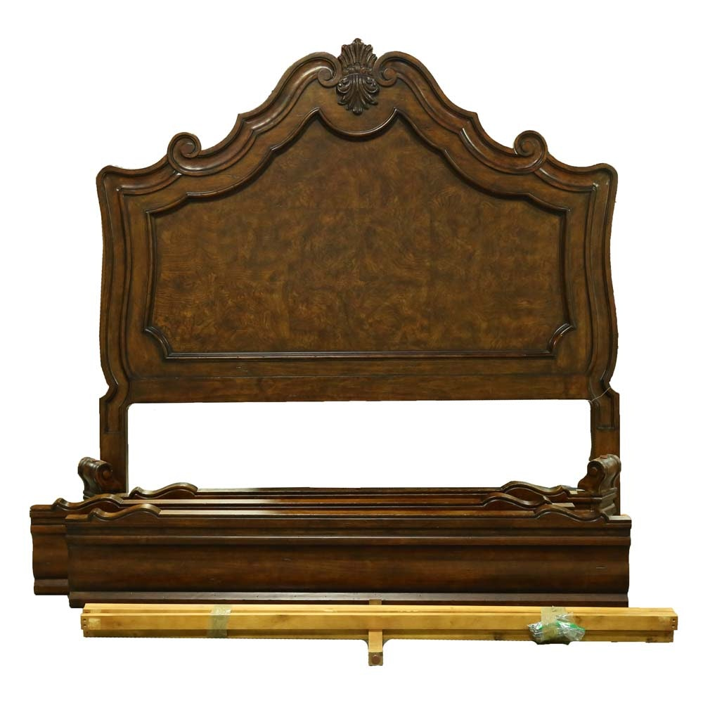 King Sized Baroque Paneled Bed Frame