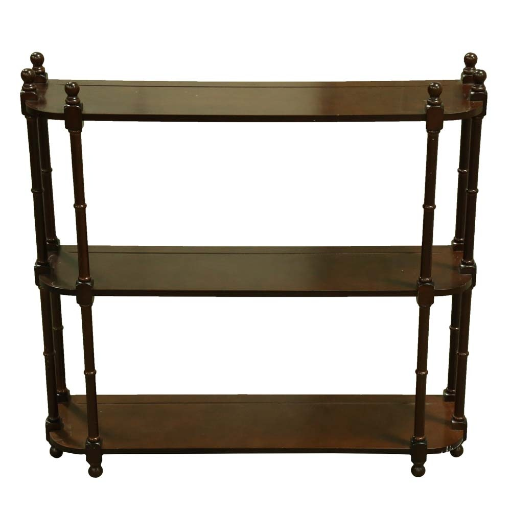 British Colonial Style Wall Shelf by The Bombay Company