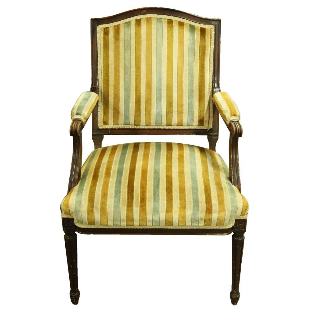 Vintage Louis XVI Style Arm Chair by Kingsley Furniture