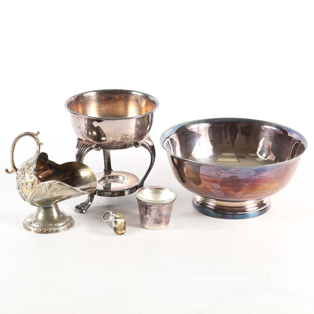 Plated Silver Serving Pieces Including Gorham