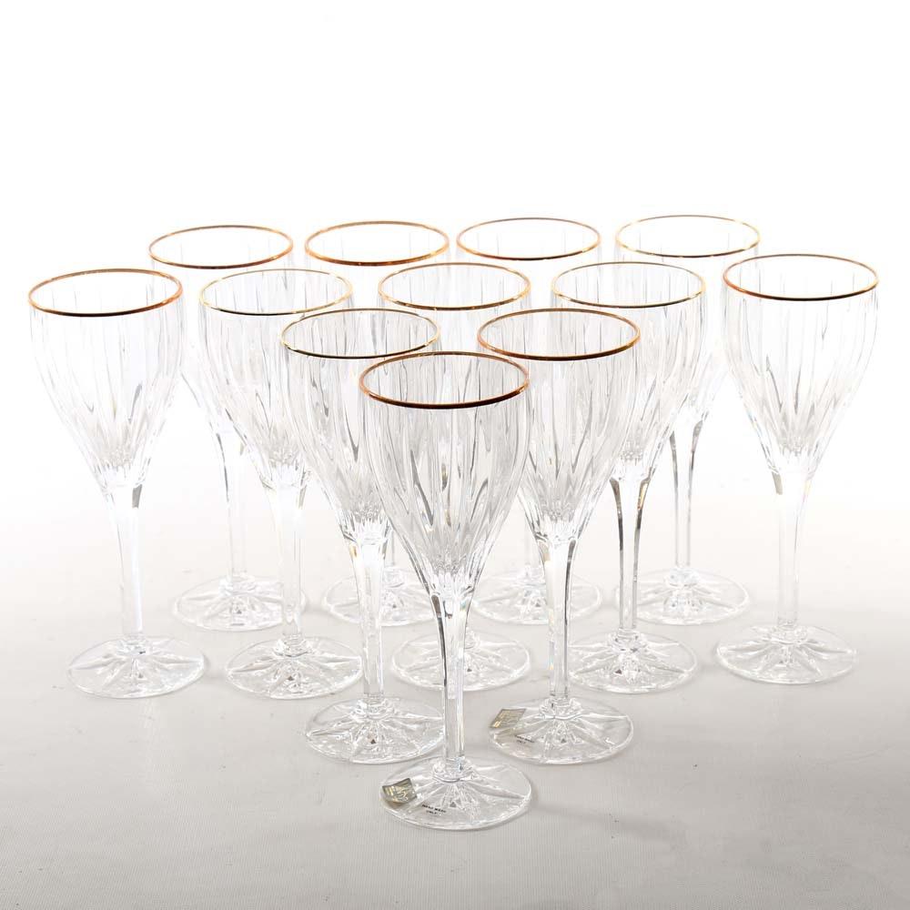 Mikasa Golden Tiara Crystal Goblets