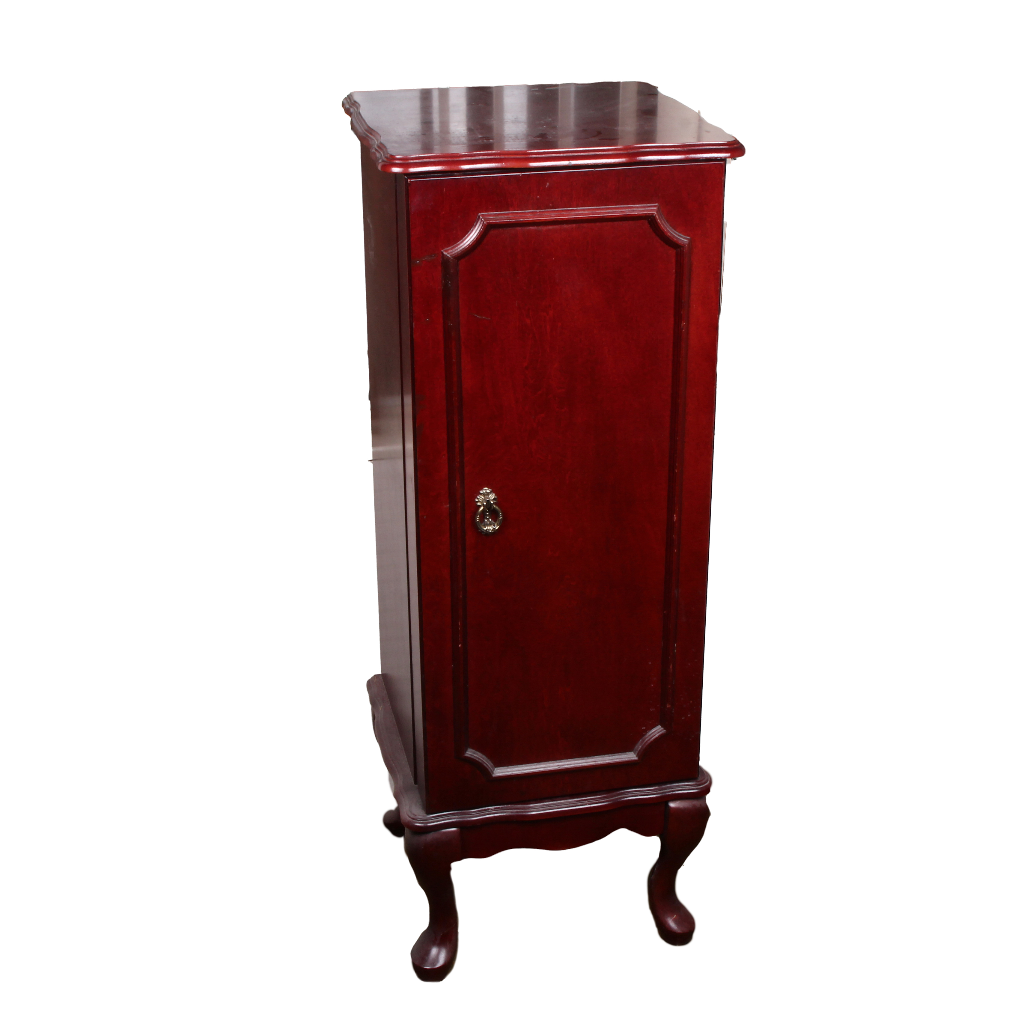 Queen Anne Style Mahogany Jewelry Armoire EBTH