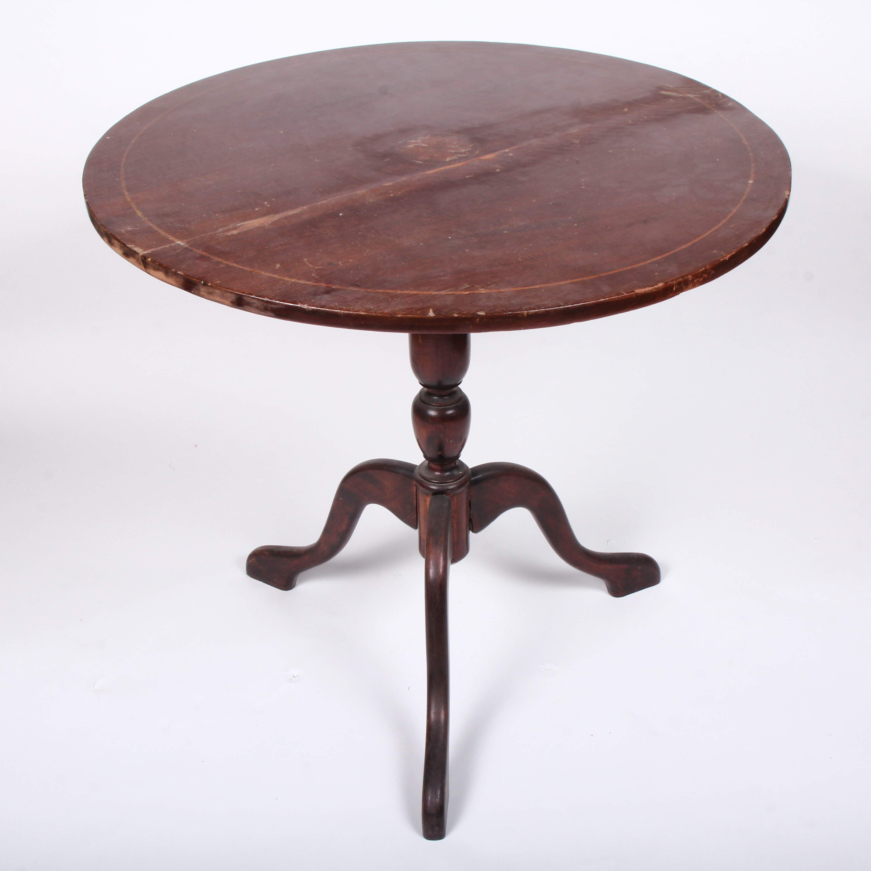 Mahogany Accent Table with Inlay