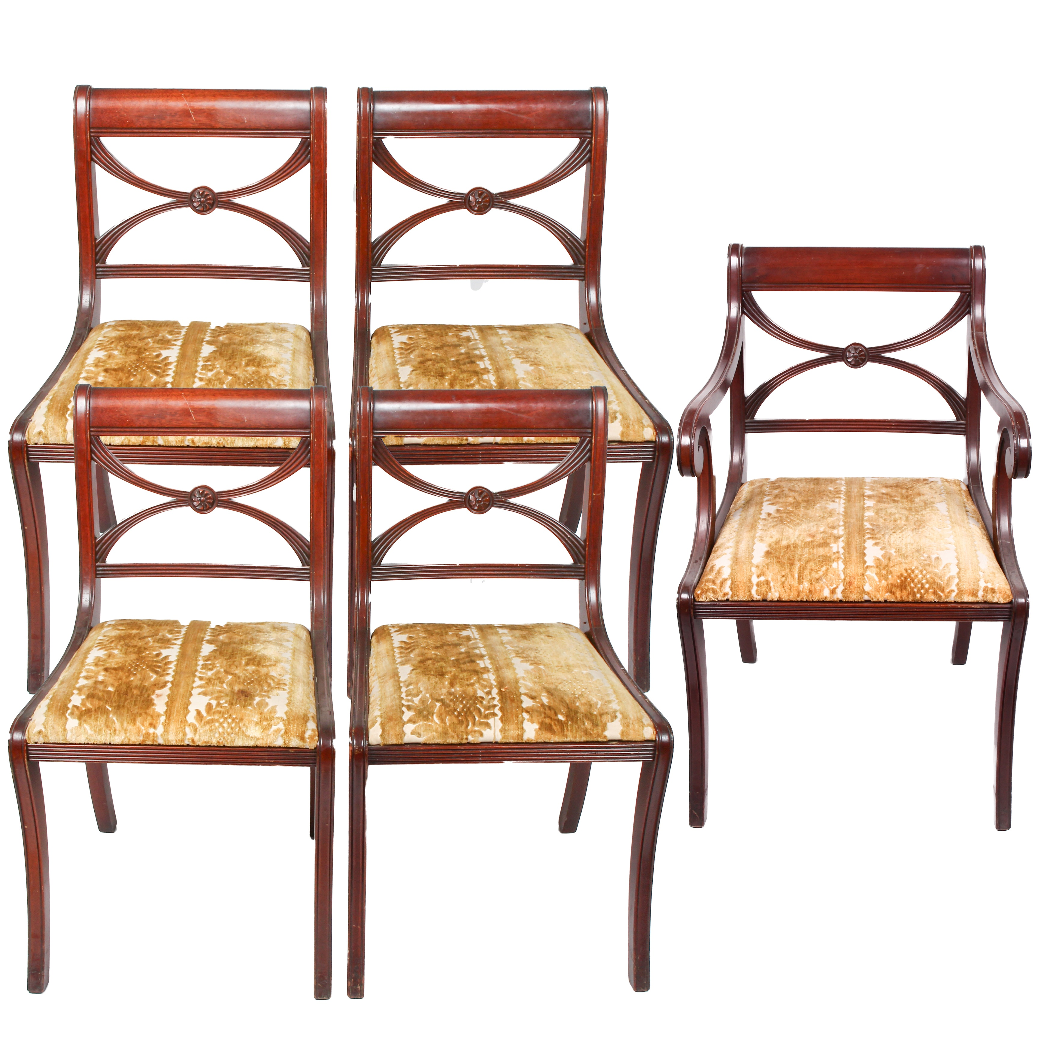 Vintage Mahogany Classical Dining Chairs Ebth