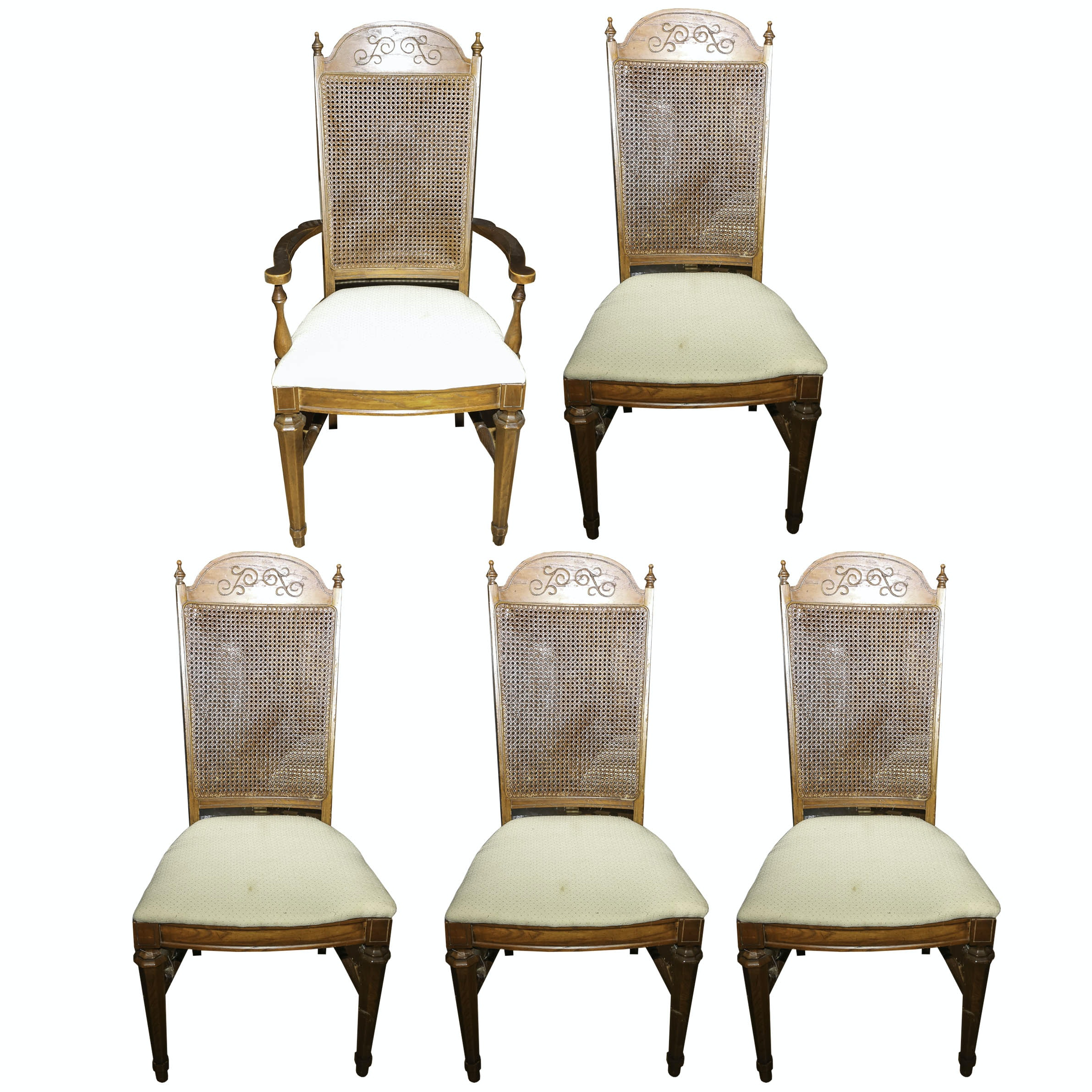 French Provencial Style Dining Chairs