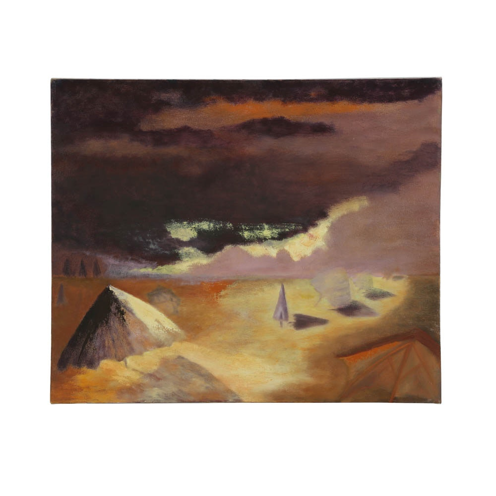 Oil Painting on Canvas of Abstract Landscape