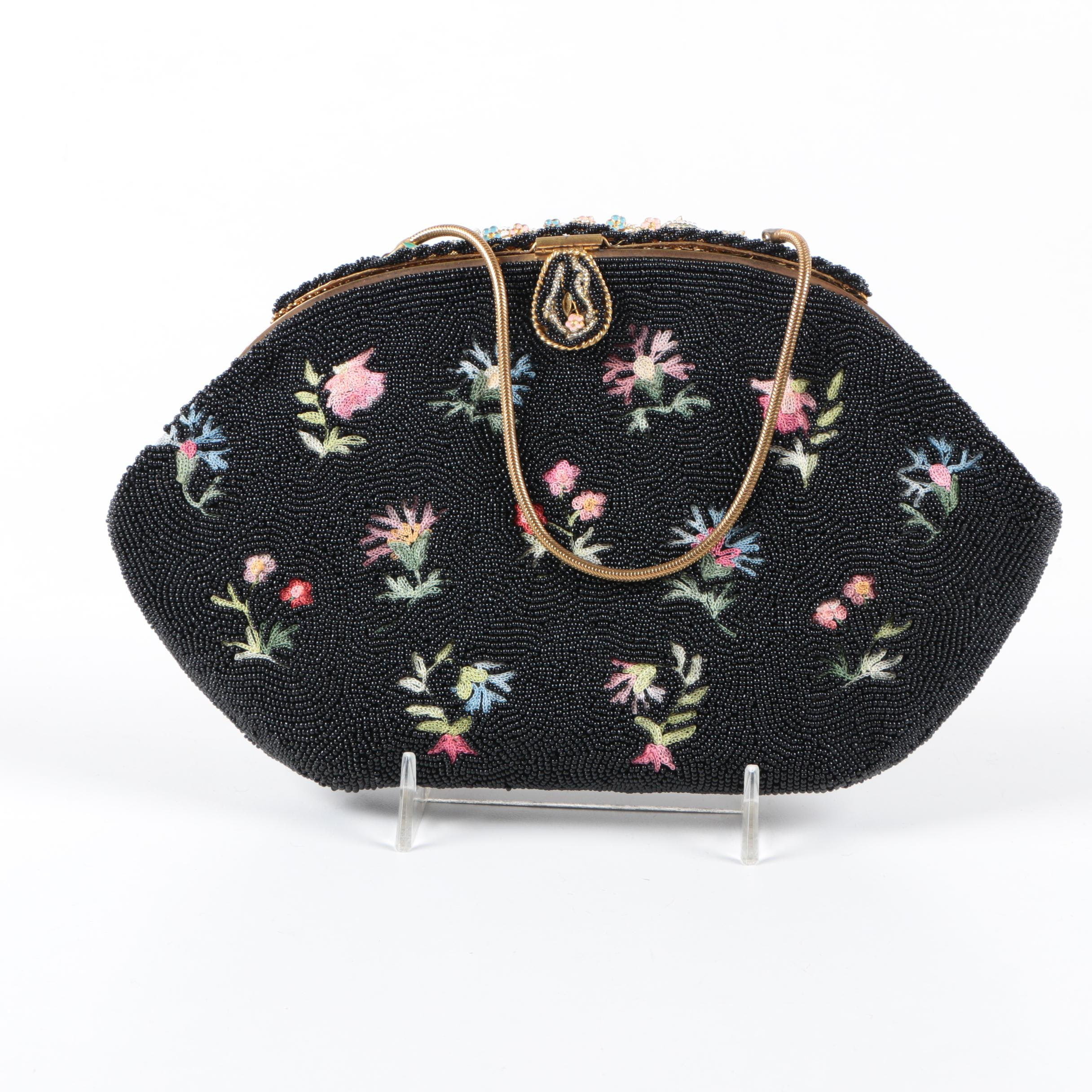 Vintage French Floral Handbag