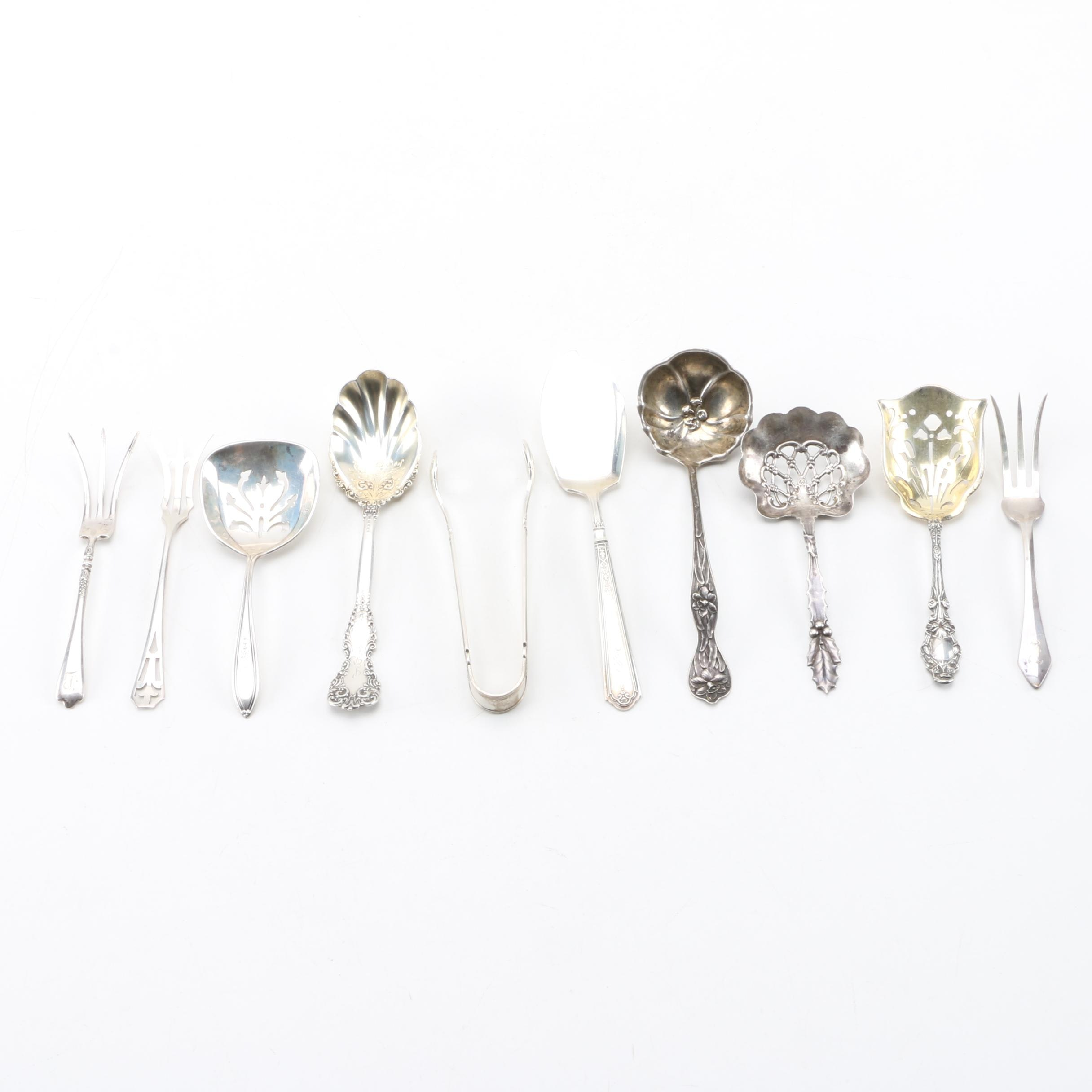 """Gorham """"Princess Patricia"""" and Other Sterling Silver Serving Utensils"""