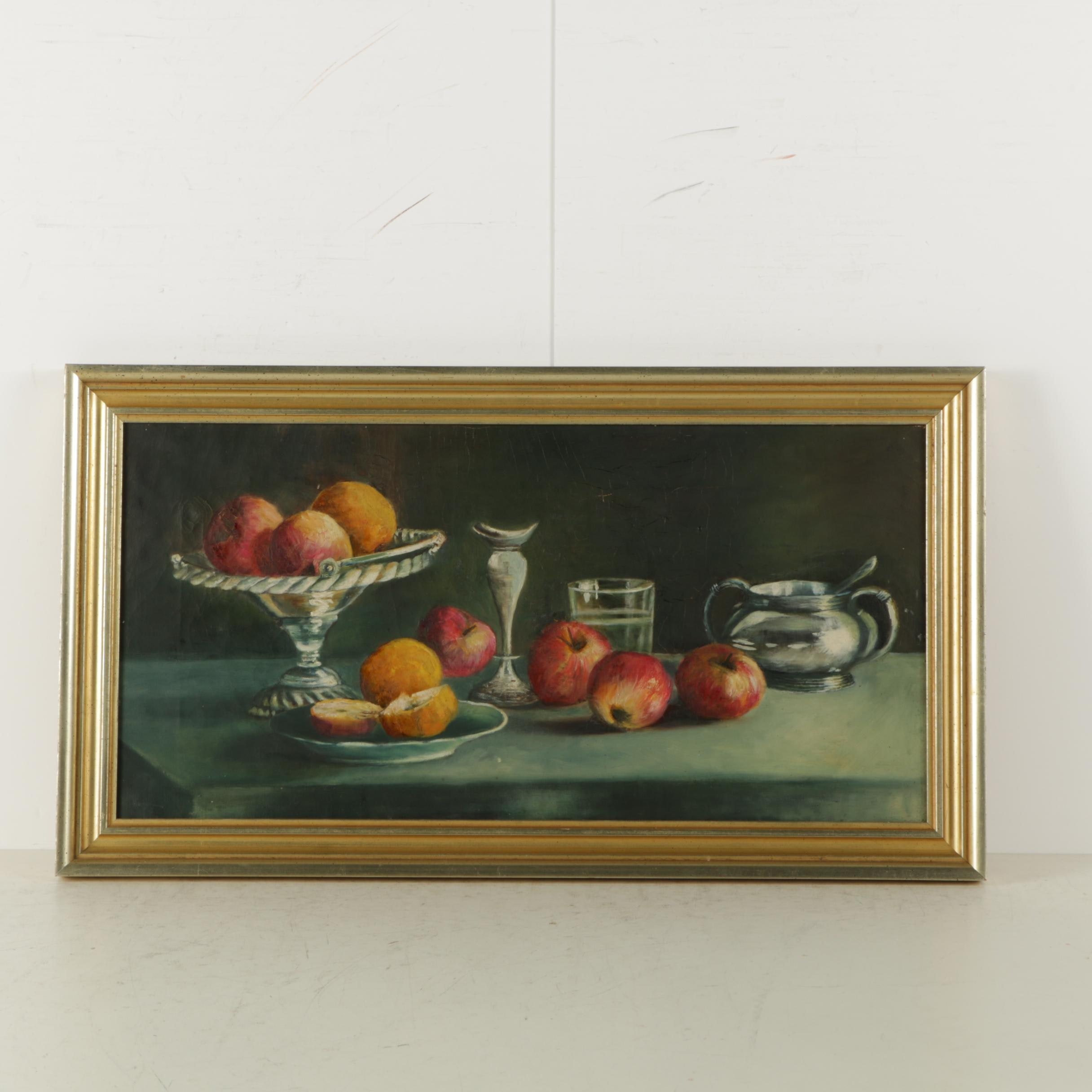 Oil Painting on Canvas of a Fruit Still Life