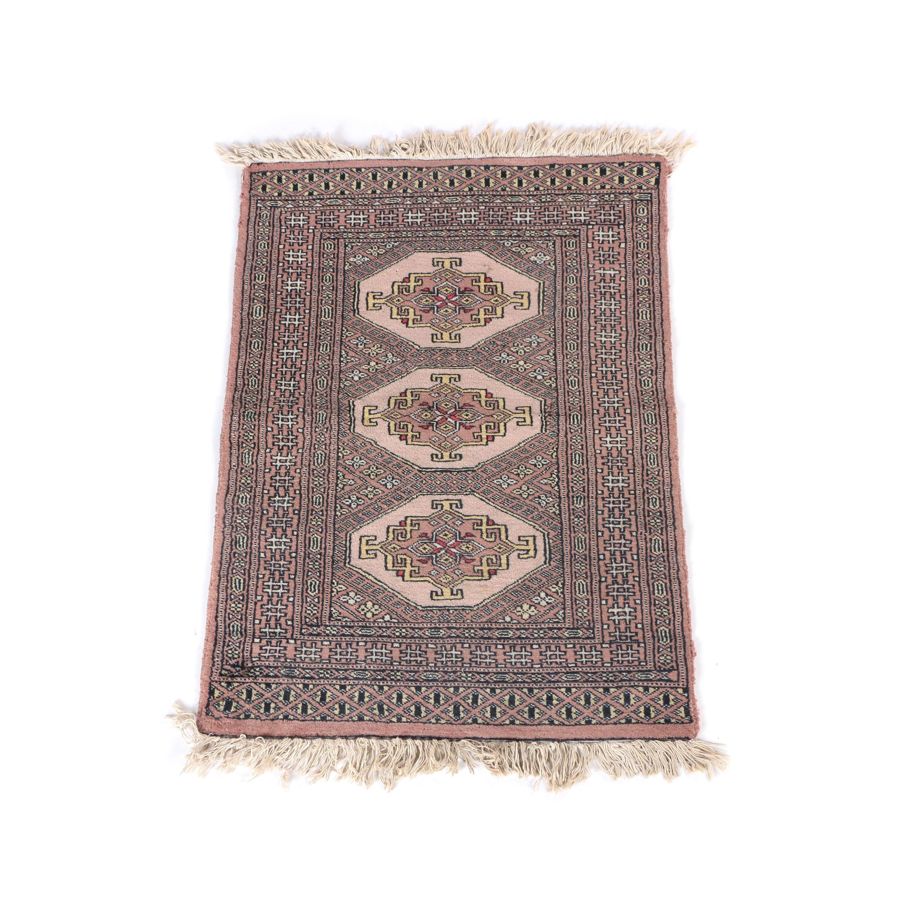 Hand-Knotted Bokhara Wool Accent Rug