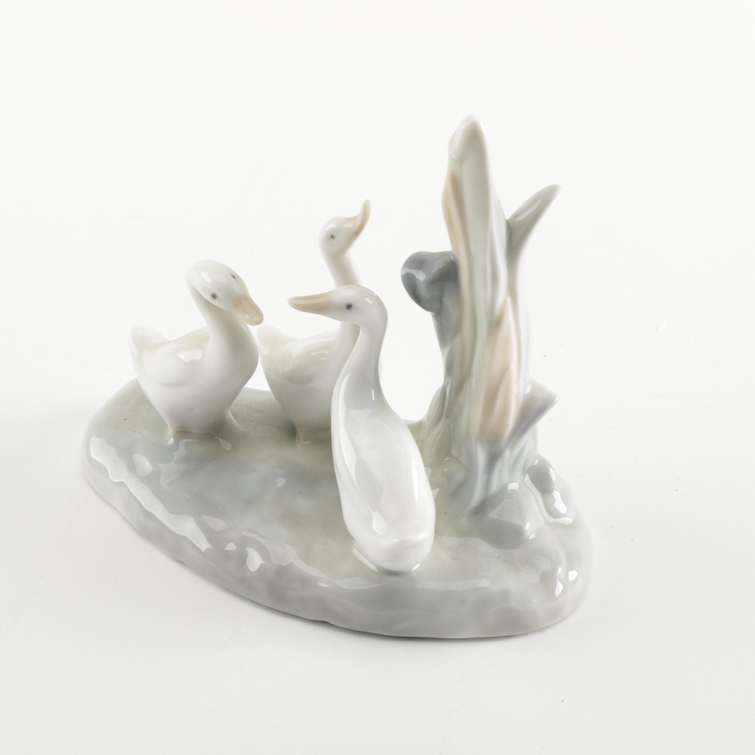 Lladró Nao Porcelain Ducks Figurine