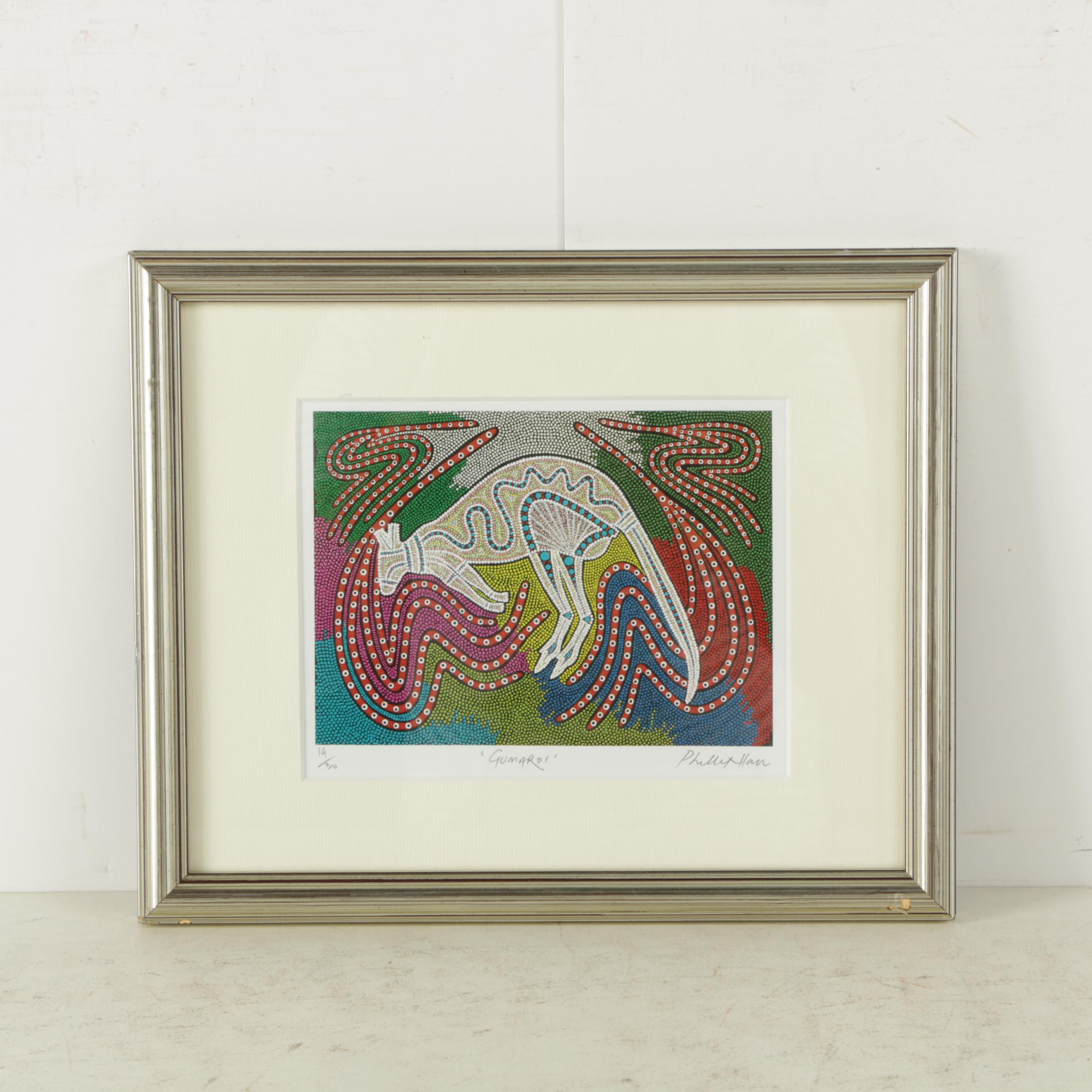 "Phillip Hall Limited Edition Giclee Print on Paper ""Gumaroi"""