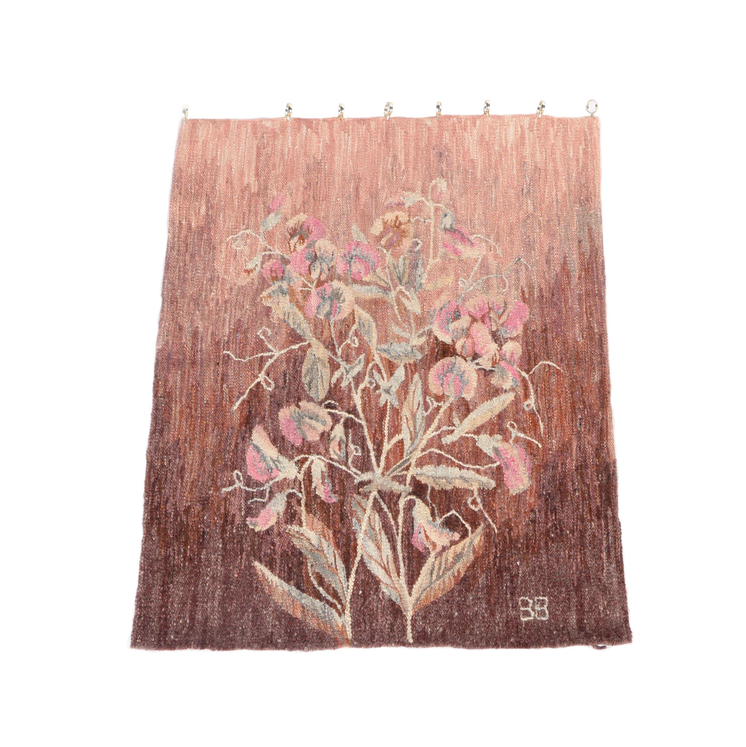 Handwoven Gobelin Groszki Polish Floral Weaving