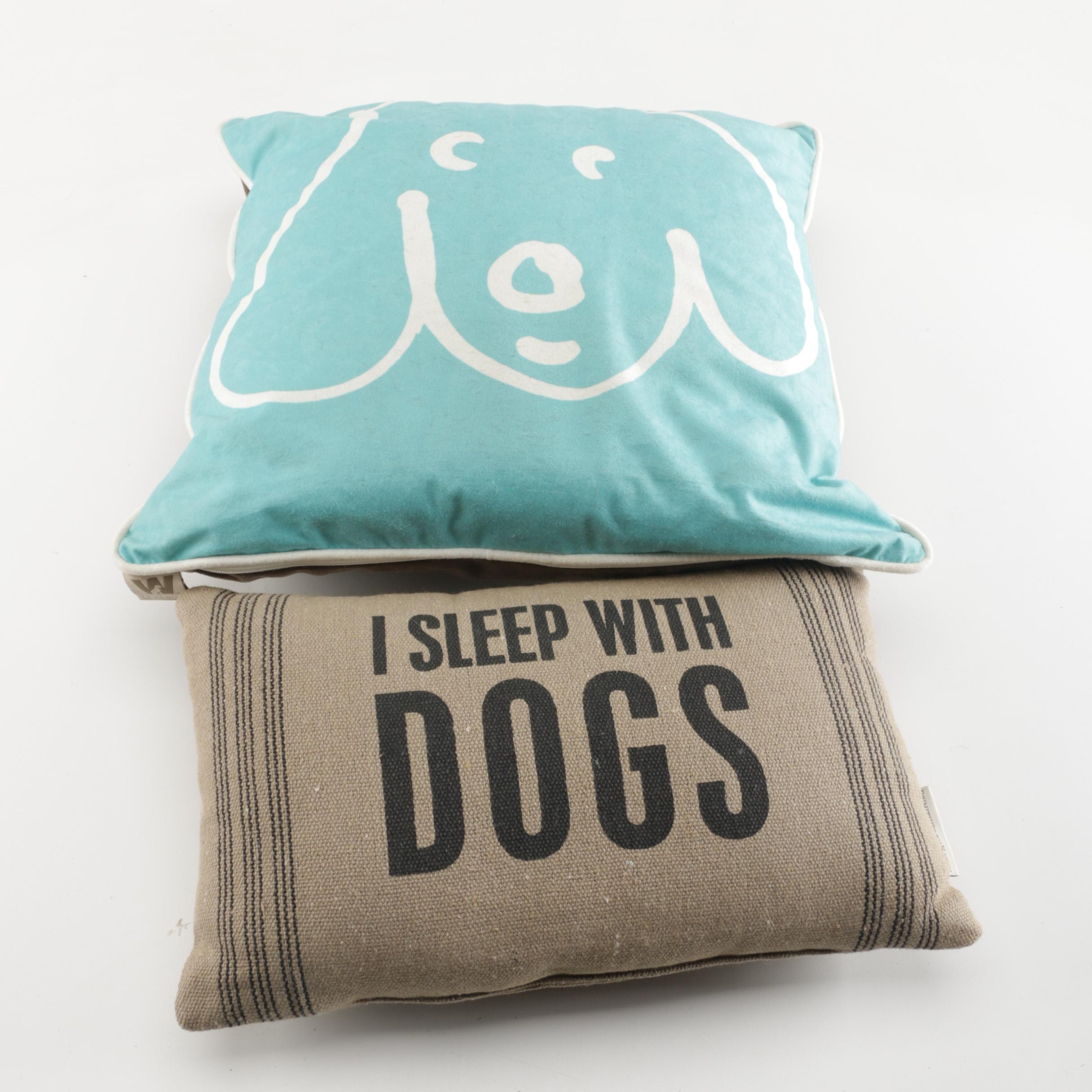 Dog-Themed Throw Pillows