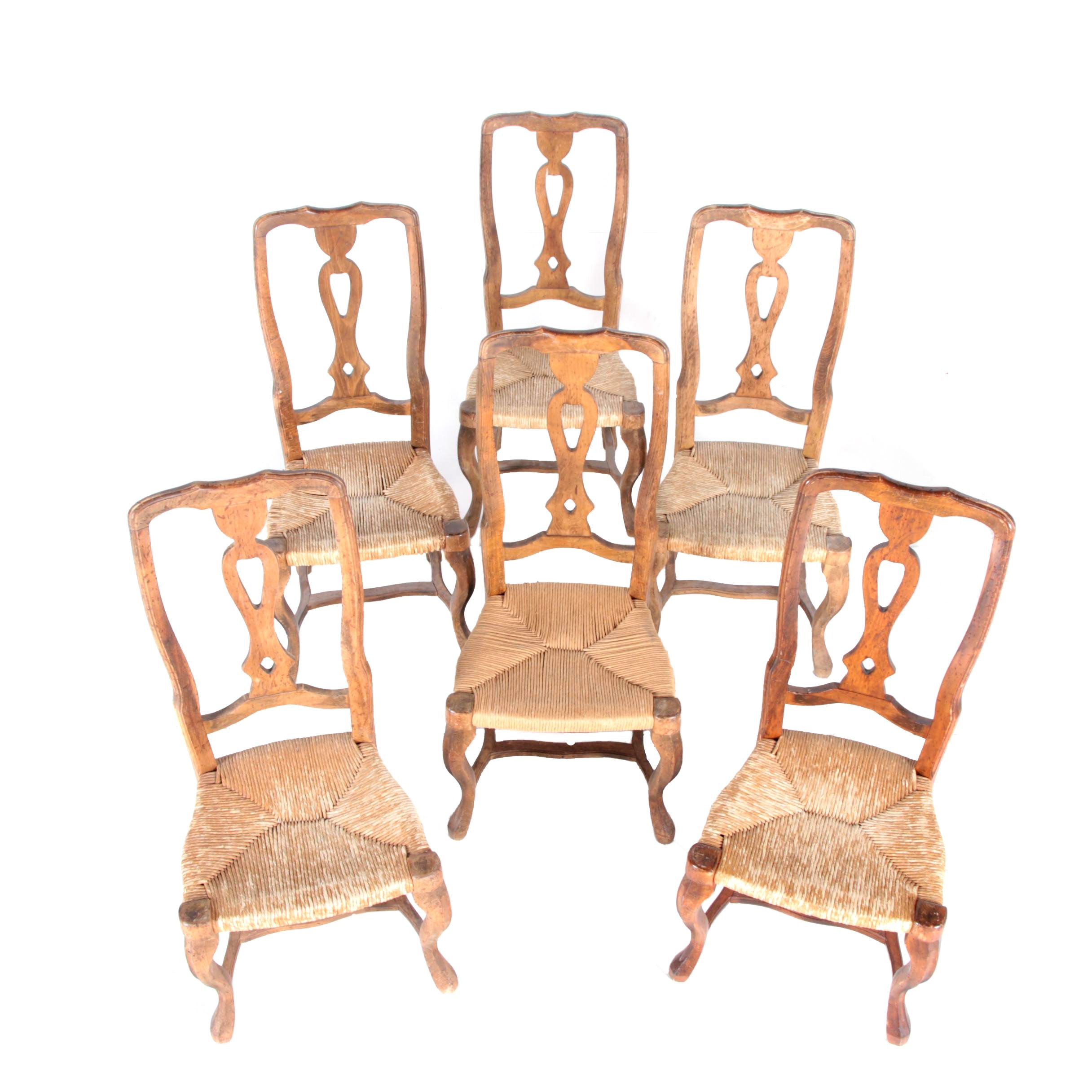 Set of Six Provincial Style Dining Chairs