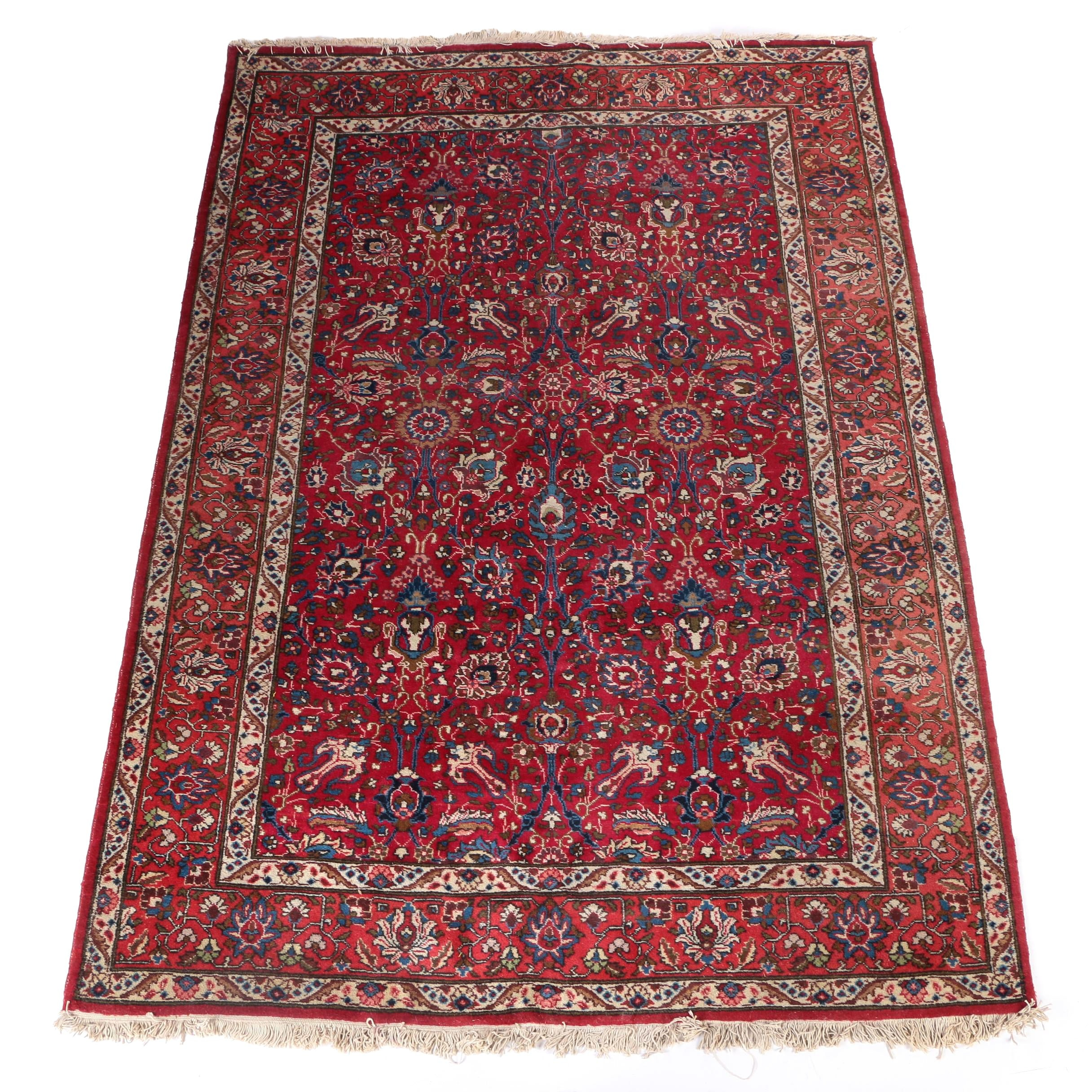 Hand-Knotted Chinese Persian Style Wool Area Rug