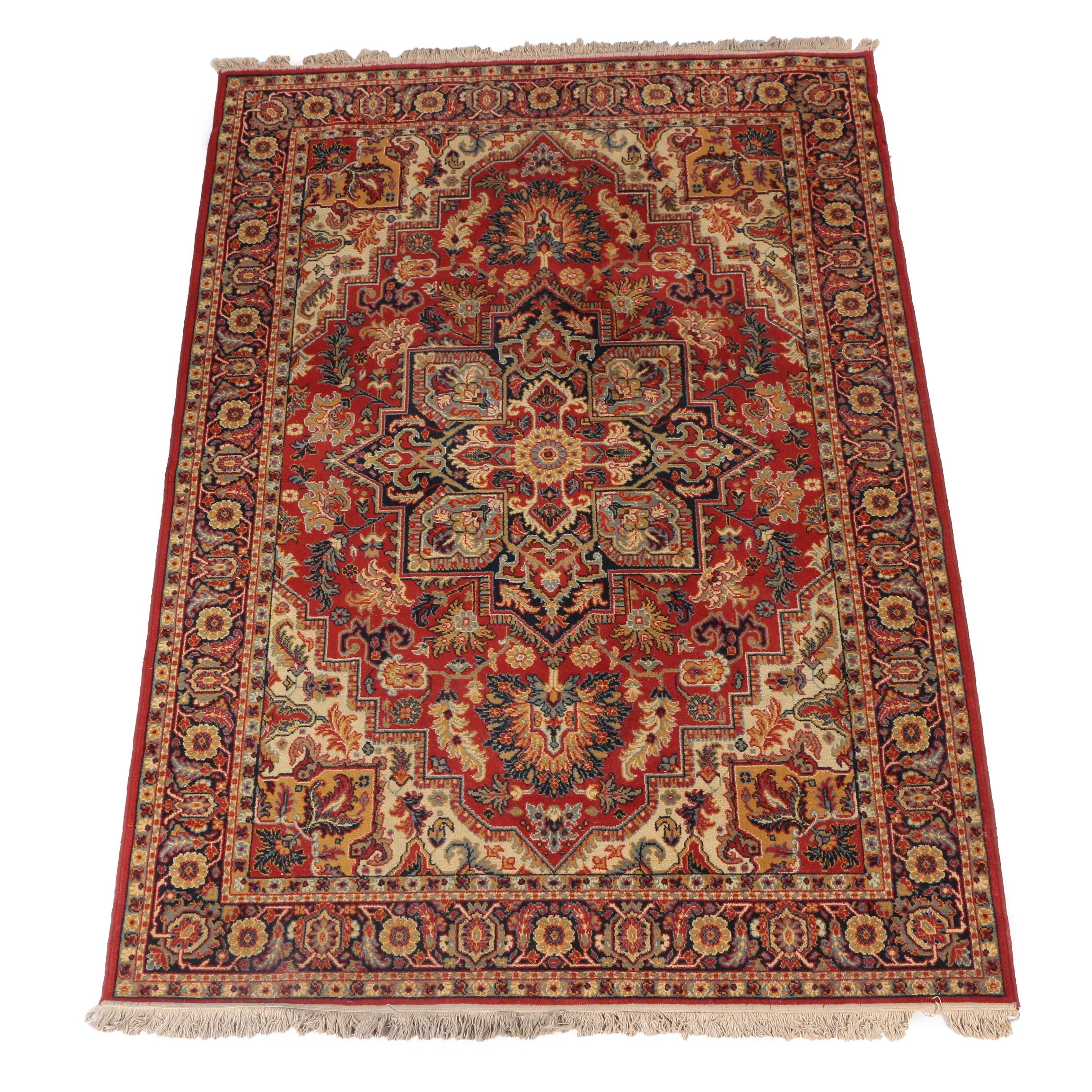 Power-Loomed Persian Style Wool Area Rug by Shahistan