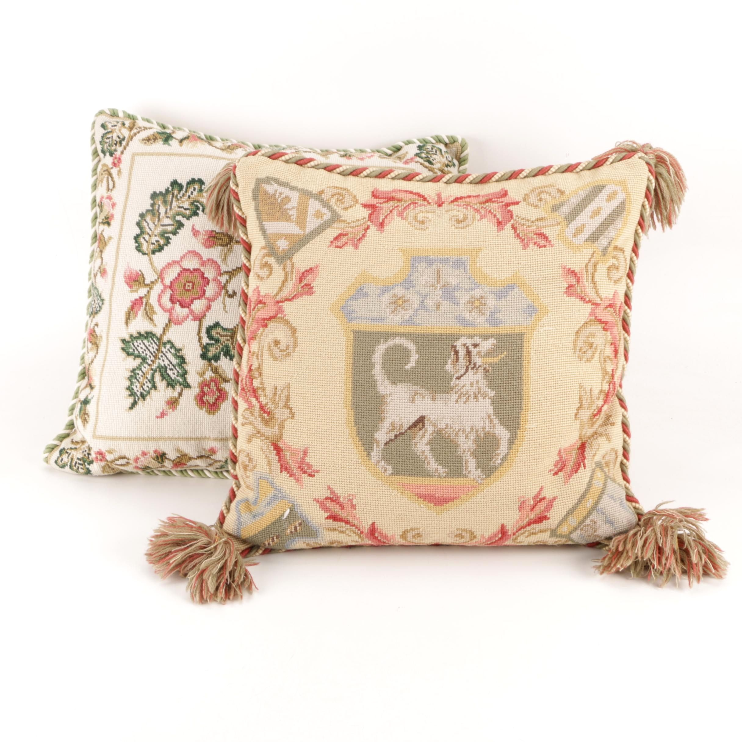 Katha Diddel Needlepoint Pillows