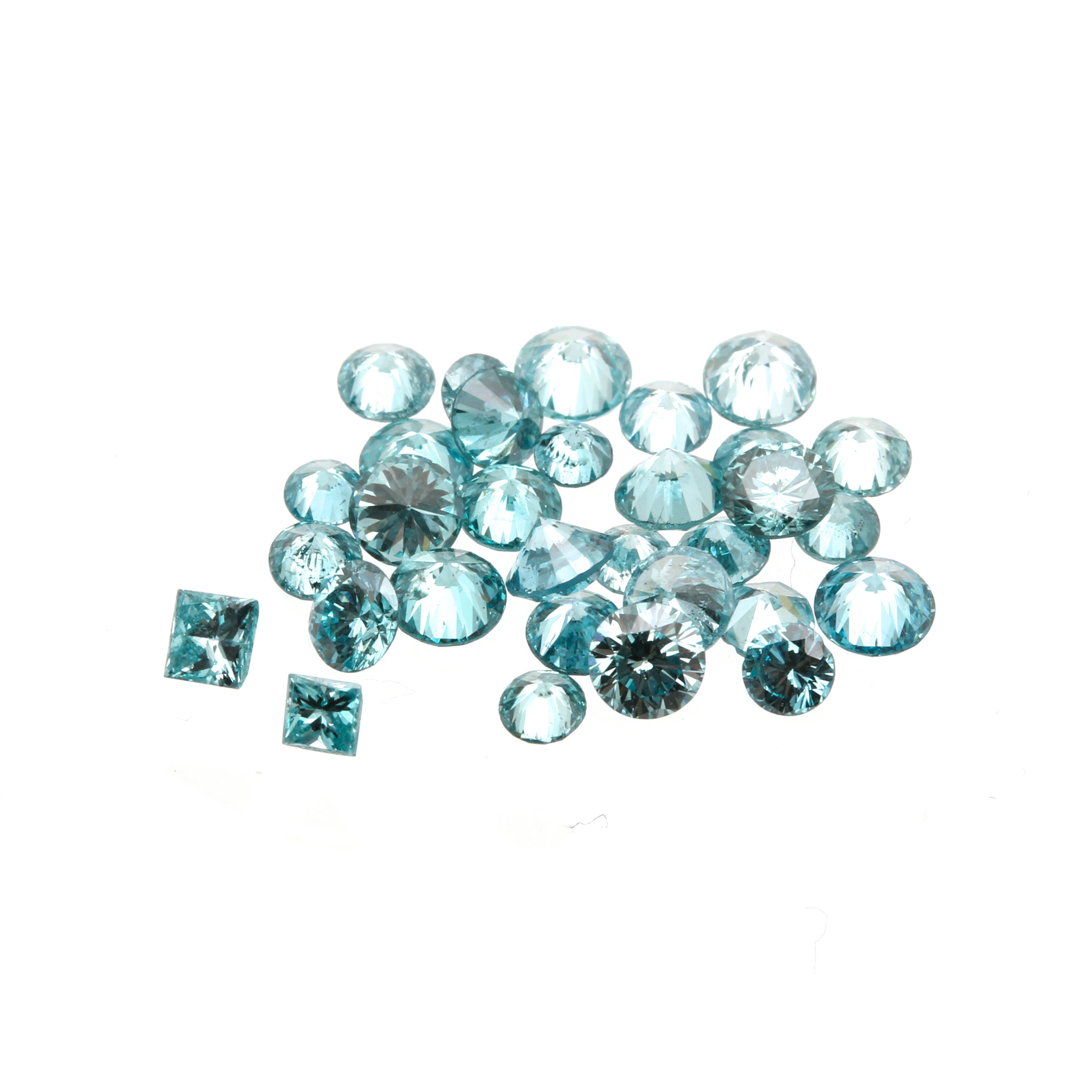 Loose 1.67 CTW Blue Diamonds