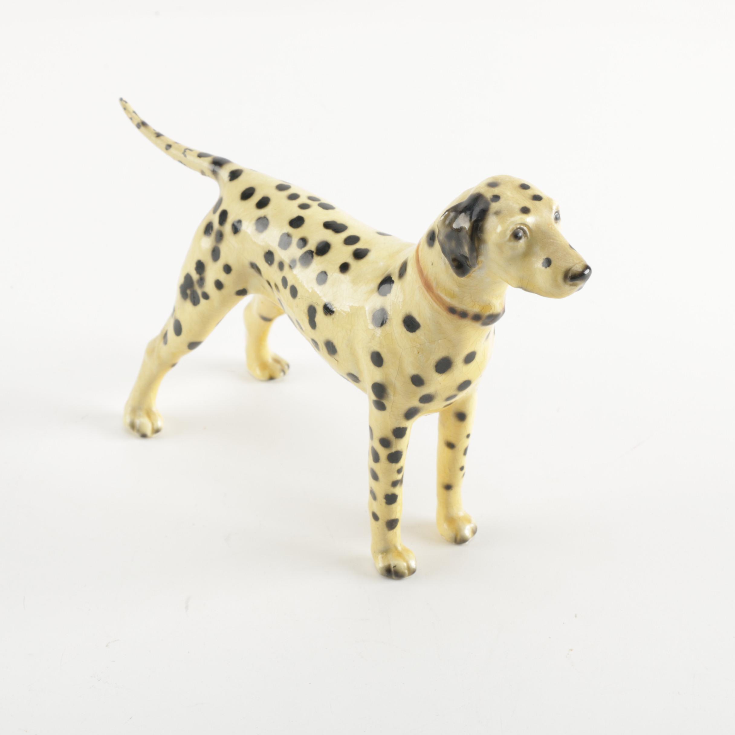 Mortens Studio Ceramic Dalmation Figurine
