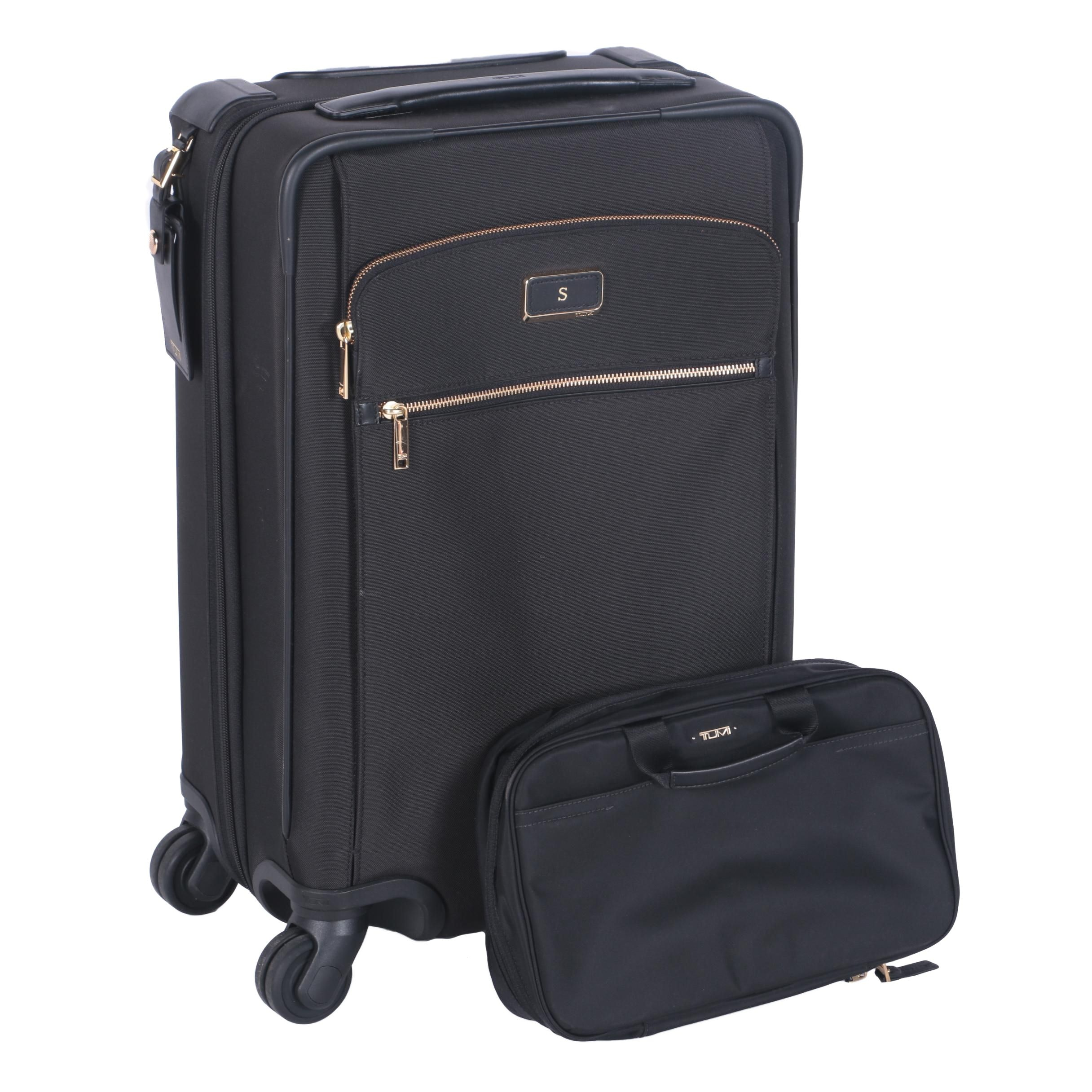 Tumi Rolling Luggage and Cosmetic Case