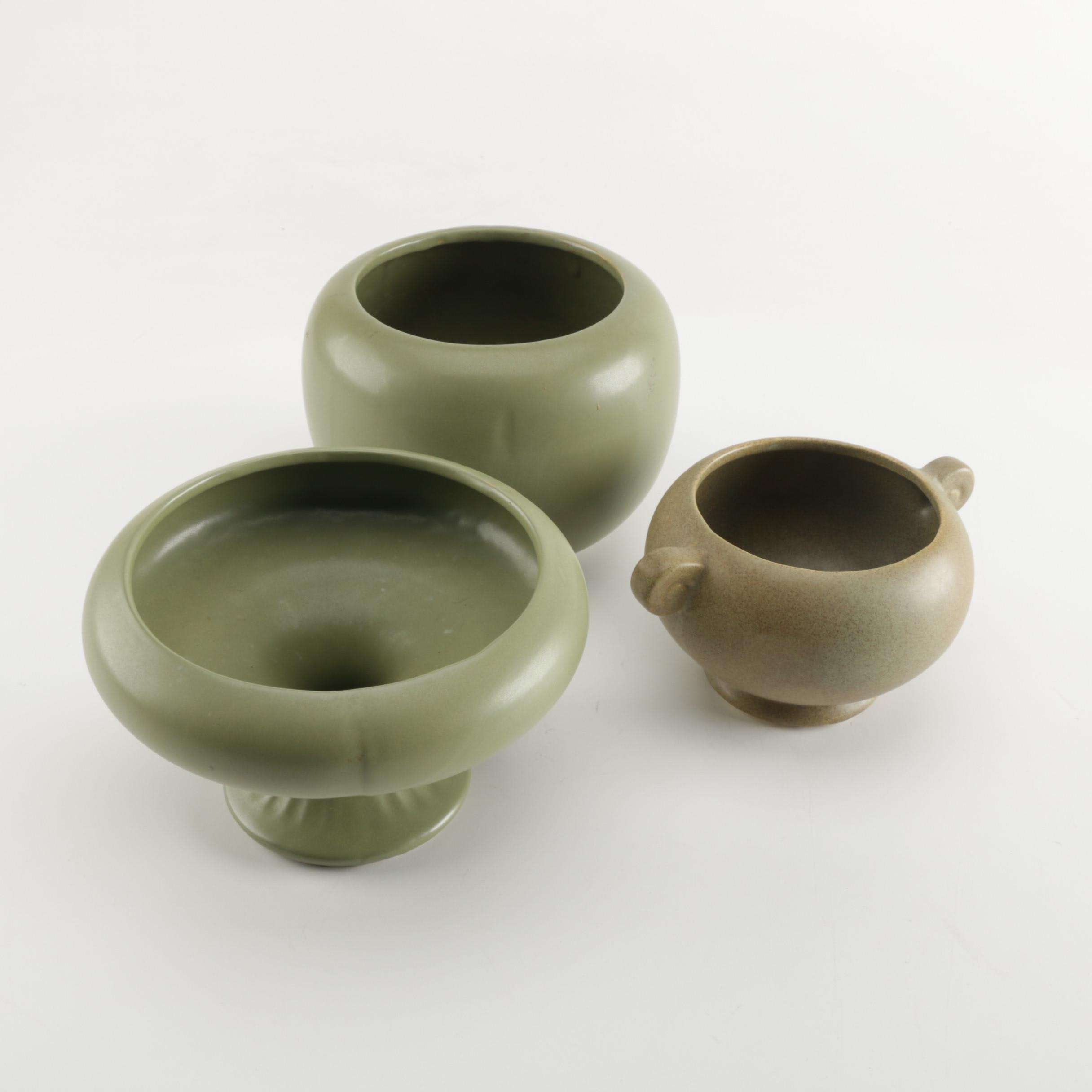 Pottery Vases Featuring McCoy Floraline