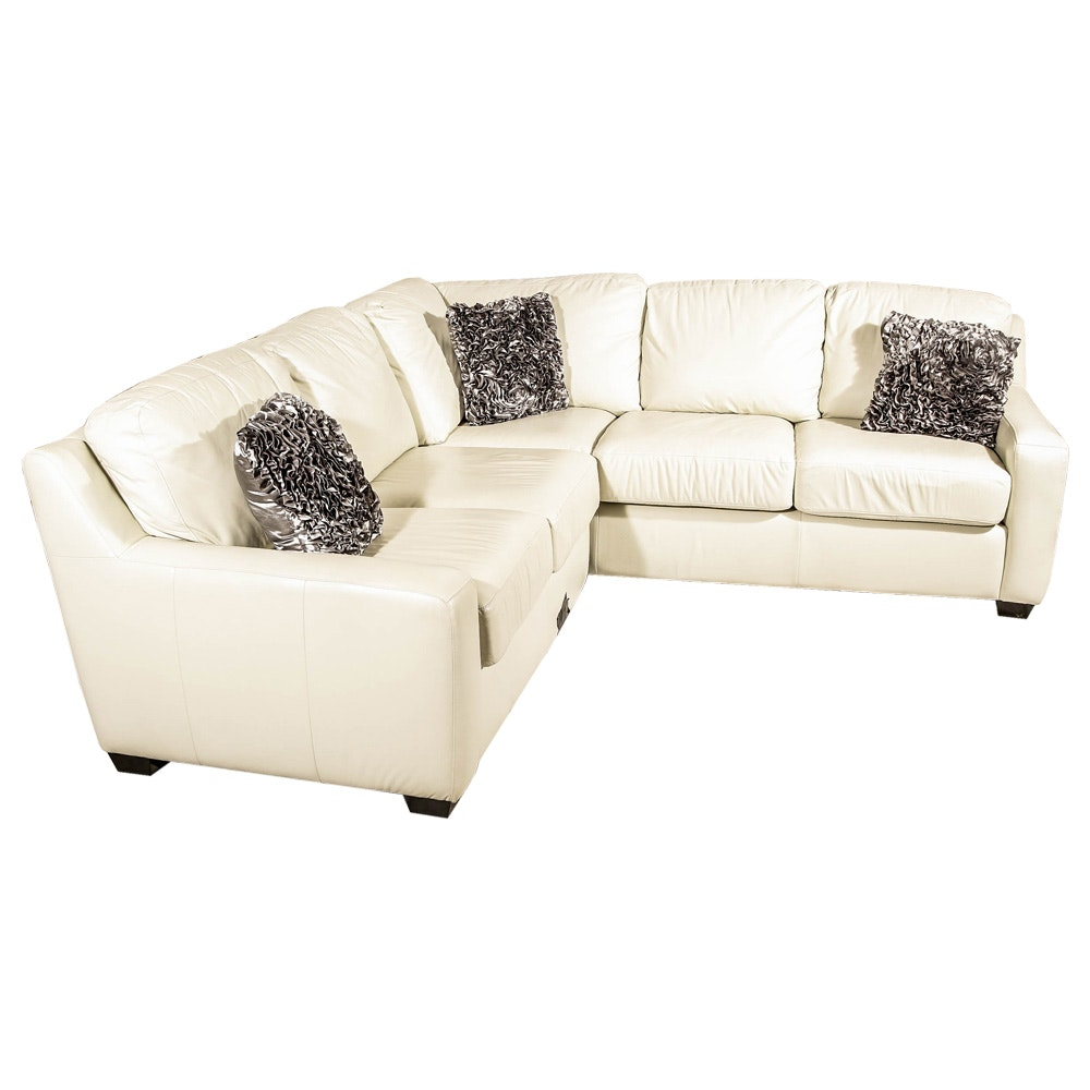 White Sectional Sofa by Arizona Leather Company
