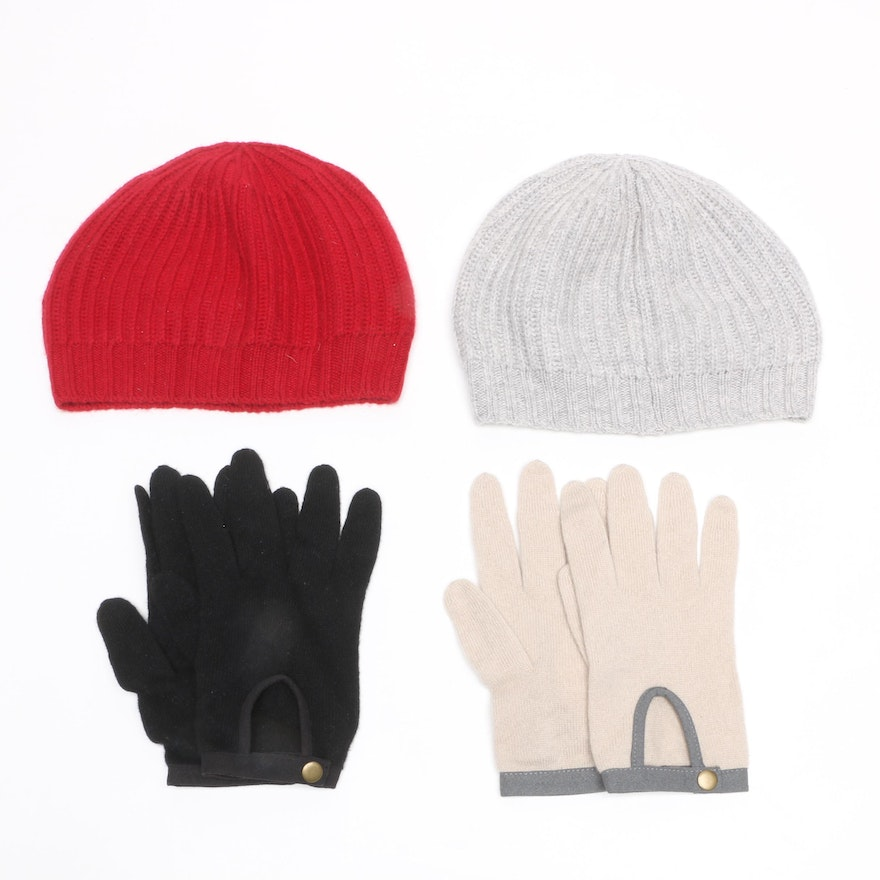 8c00265d2dc Cashmere Gloves and Hats Including White + Warren and StyleMint   EBTH